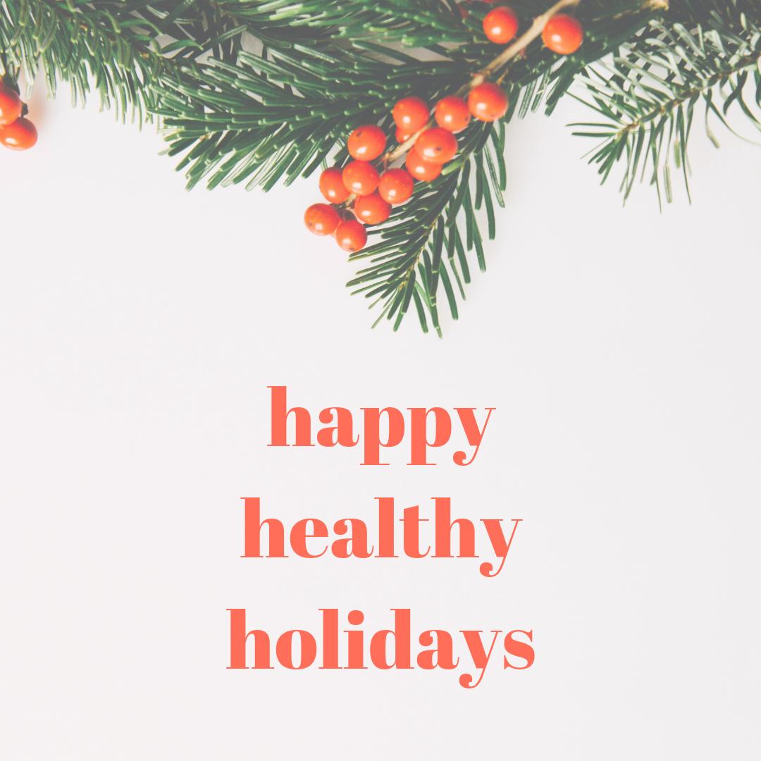 Christmas Holidays Healthy