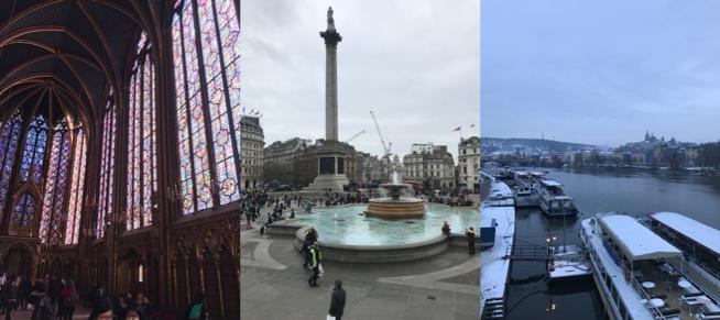 Left to right: Paris, London, Prague