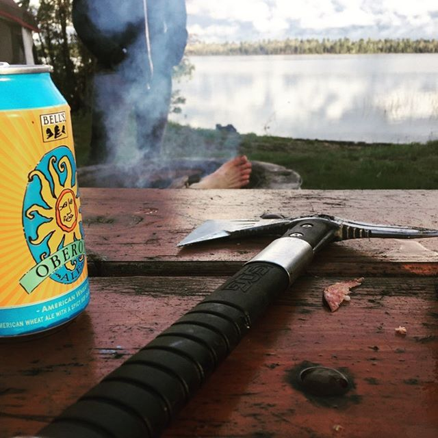 Rounding out summer with all the proper ingredients. #michigan #greatlakes #midwestlife #upperpeninsula #sog #oberon #campfire #freshlife