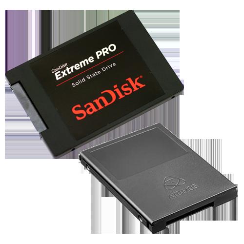 SanDisk ExtremePro 480GB in Atomos Master Caddy