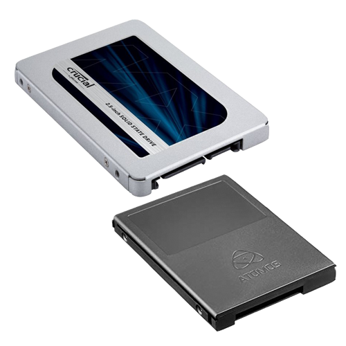 Crucial MX500 500GB in Atomos Master Caddy