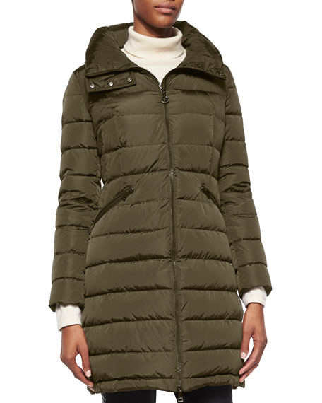 The Puffer - Moncler Flammette Puffer in Olive