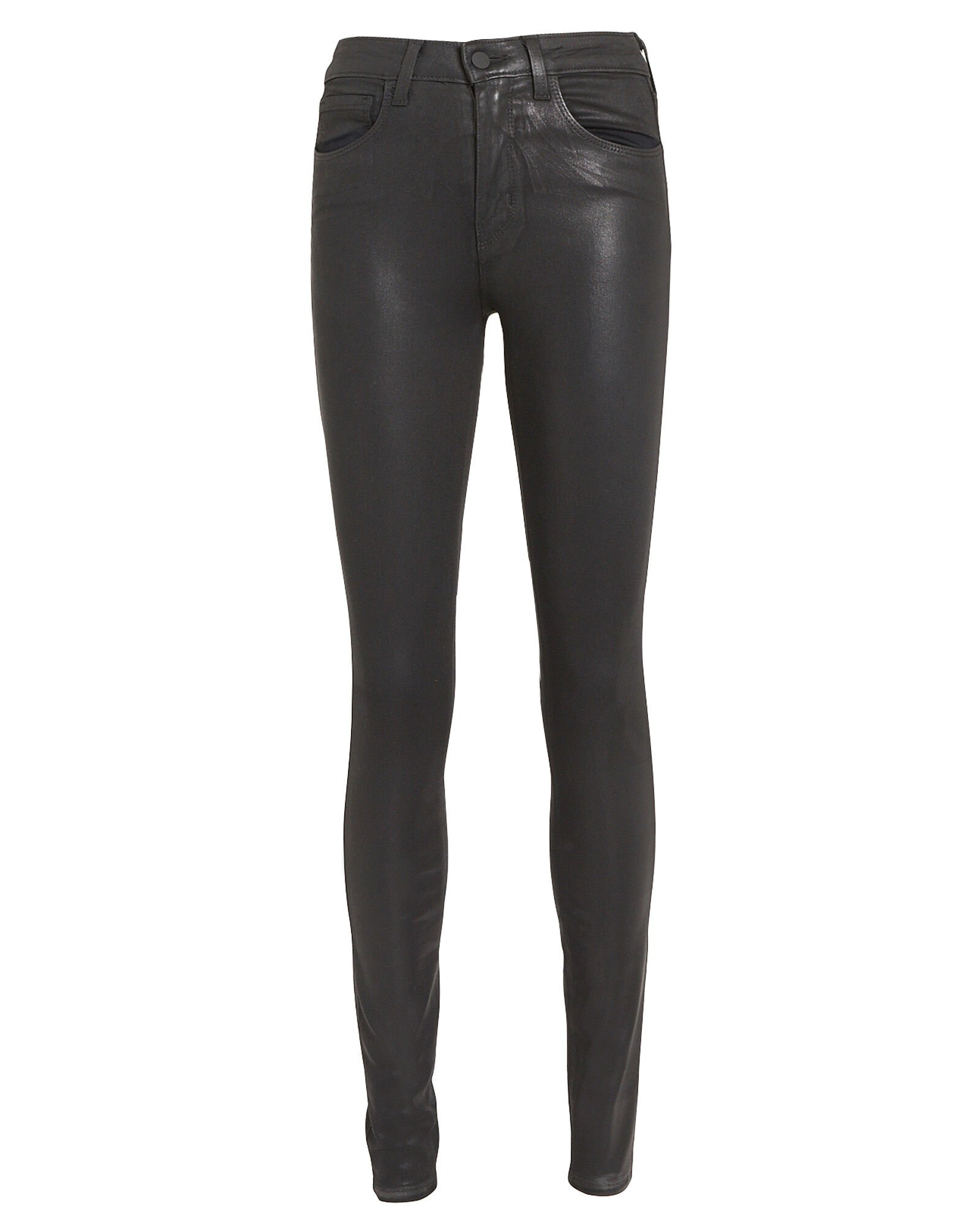 L'Agence Coated Skinny Jeans -