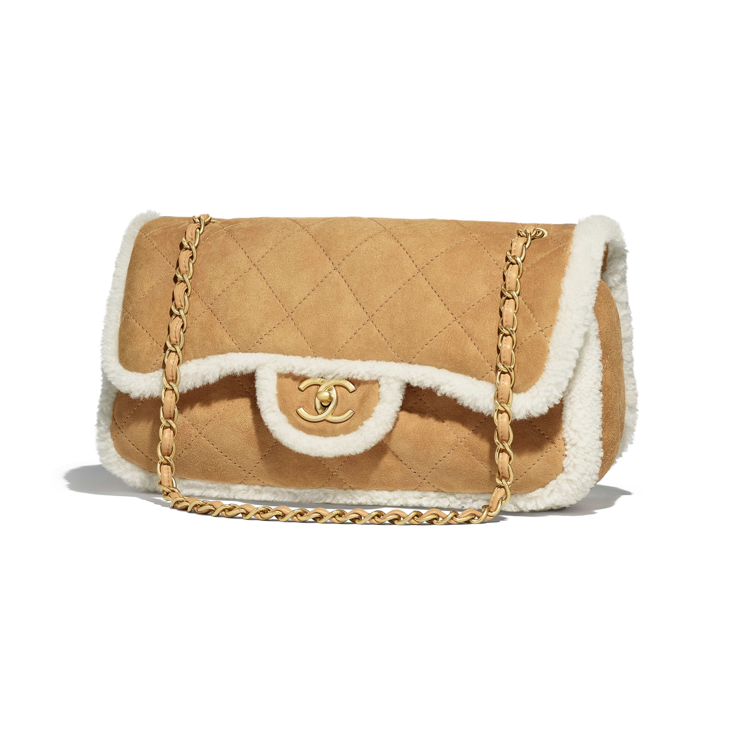 Shearling Chanel bag -