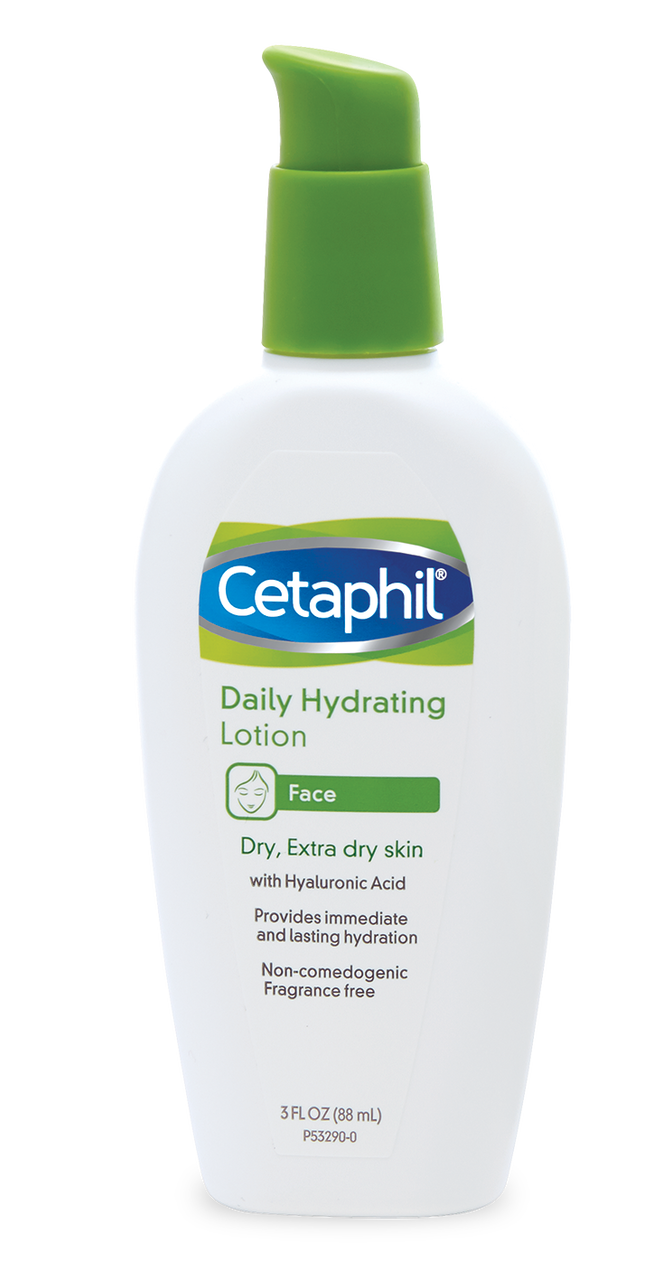 Cetaphil Daily hydrating lotion - If necessary, apply Cetaphil moisturizer last.