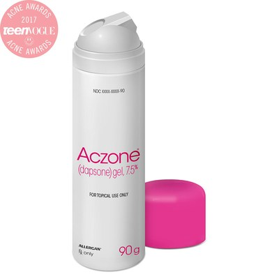 Aczone gel - Next, apply a thin layer of Aczone on skin, focusing on breakout zones.