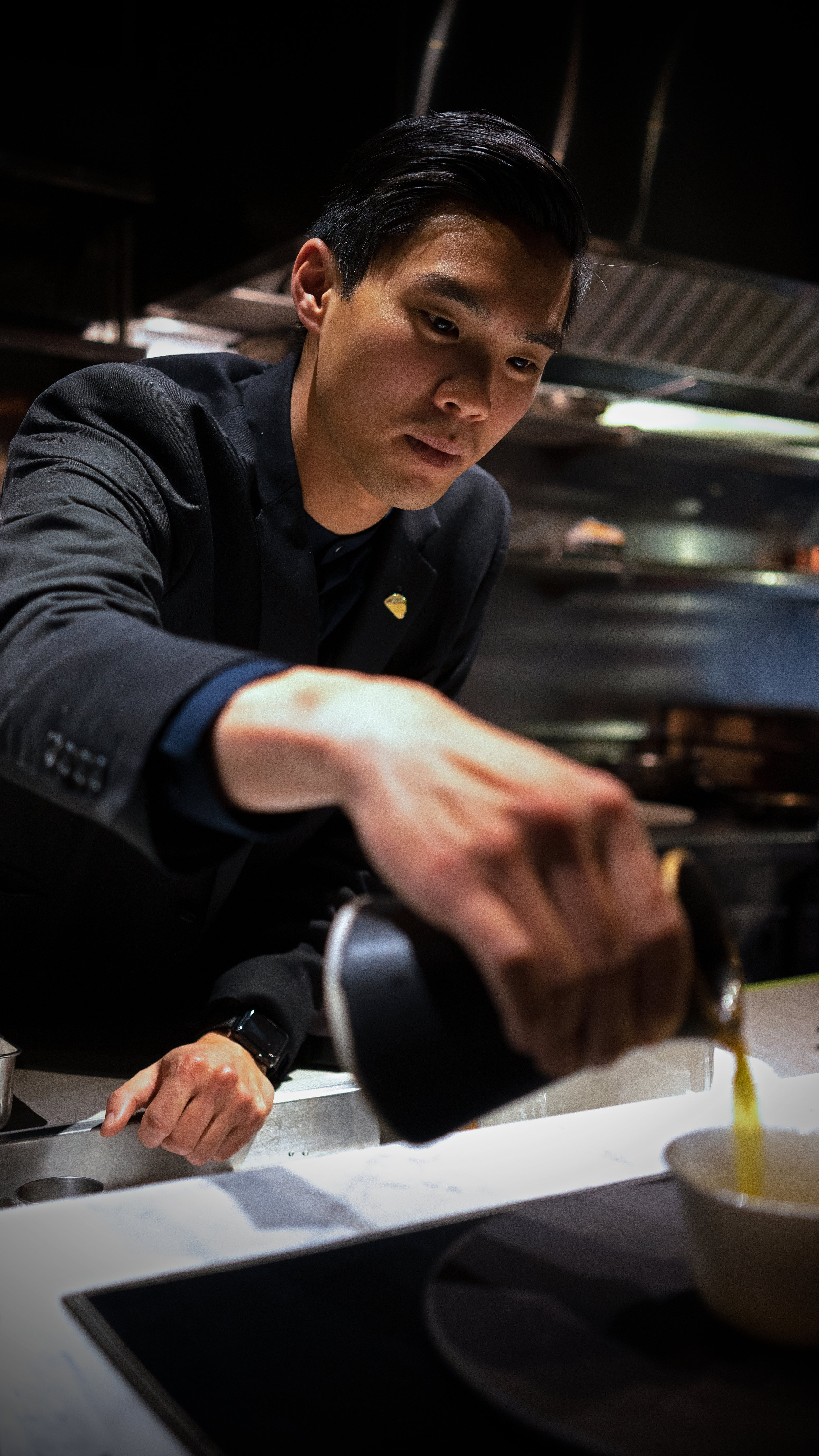Casey Kusaka - Casey Kusaka was born and raised in Kaneohe, HI. Family gatherings are what drove his passion for food and beverage as this was always centered around food. He started his career in the kitchen which led him to the Culinary Institute of America in New York where he refined his cooking skills. Casey then worked his way up the ranks at the Momofuku Noodle bar for several years and fulfilled his need for cooking experience in New York. He then transitioned to the service side of the industry working at the highly renowned one-Michelin starred Lincoln Ristorante. Ultimately Casey returned back to the Momofuku food group as a captain at their two-Michelin star Momofuku Ko. Now the General Manager at the two Michelin star Californios in San Francisco. With the opening of this restaurant he wants something that truly speaks to his personal experience and able to share it with his guests.