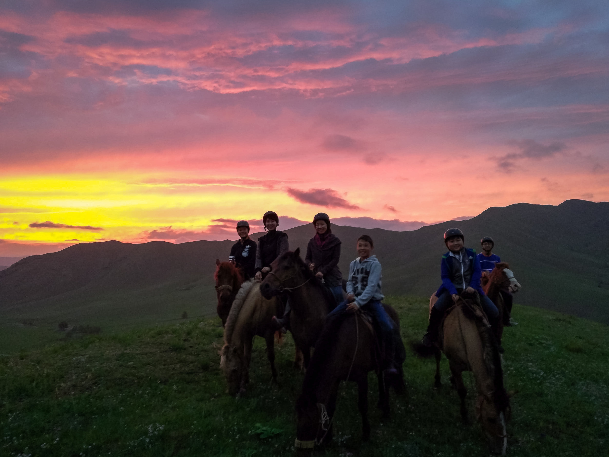 Bring your camera and enjoy the spectacular beauty of a sunset in the Terelj National Park -