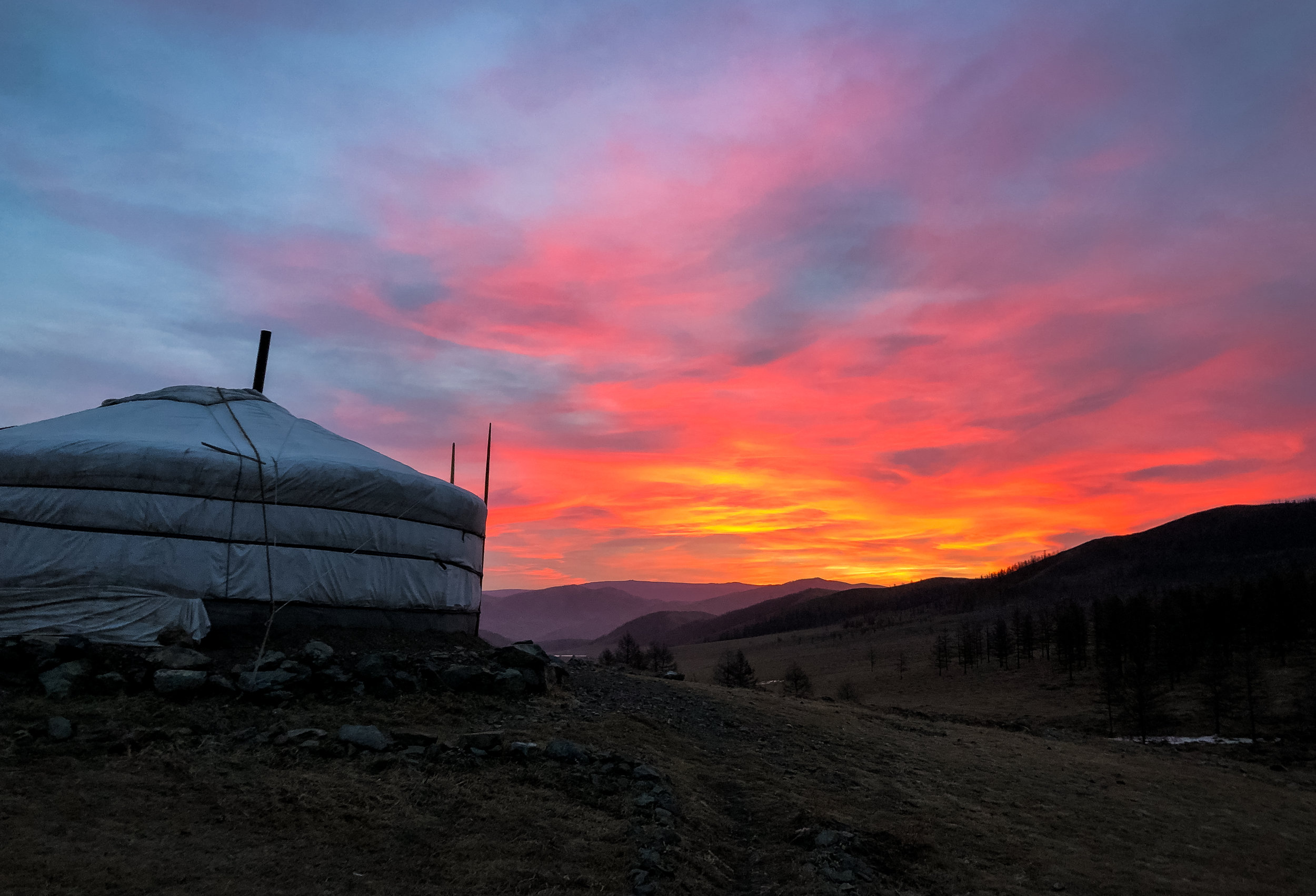 Accommodation - Stay in a plush and cozy Mongolian ger while staying close to nature in Gorkhi-Terelj National Park.For $75/person/night, you get 3 meals and up to 3 hours of horseback riding included per day.