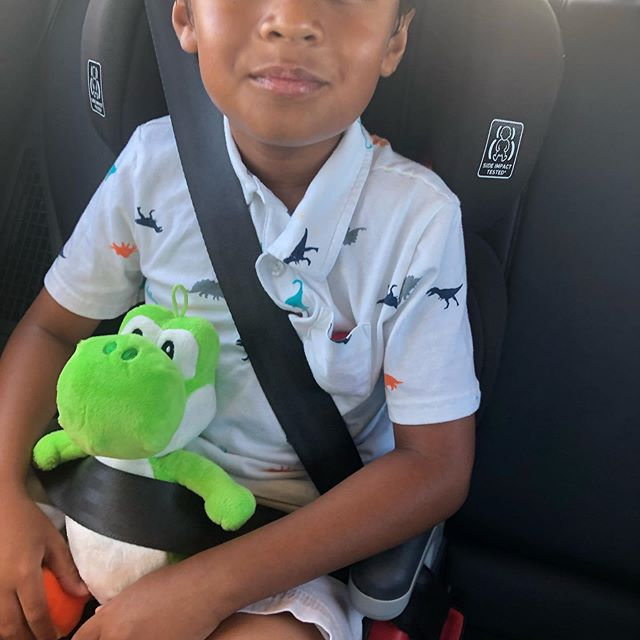 Safety 1st...all passengers buckled #safety #autistickidsrock #parentlife