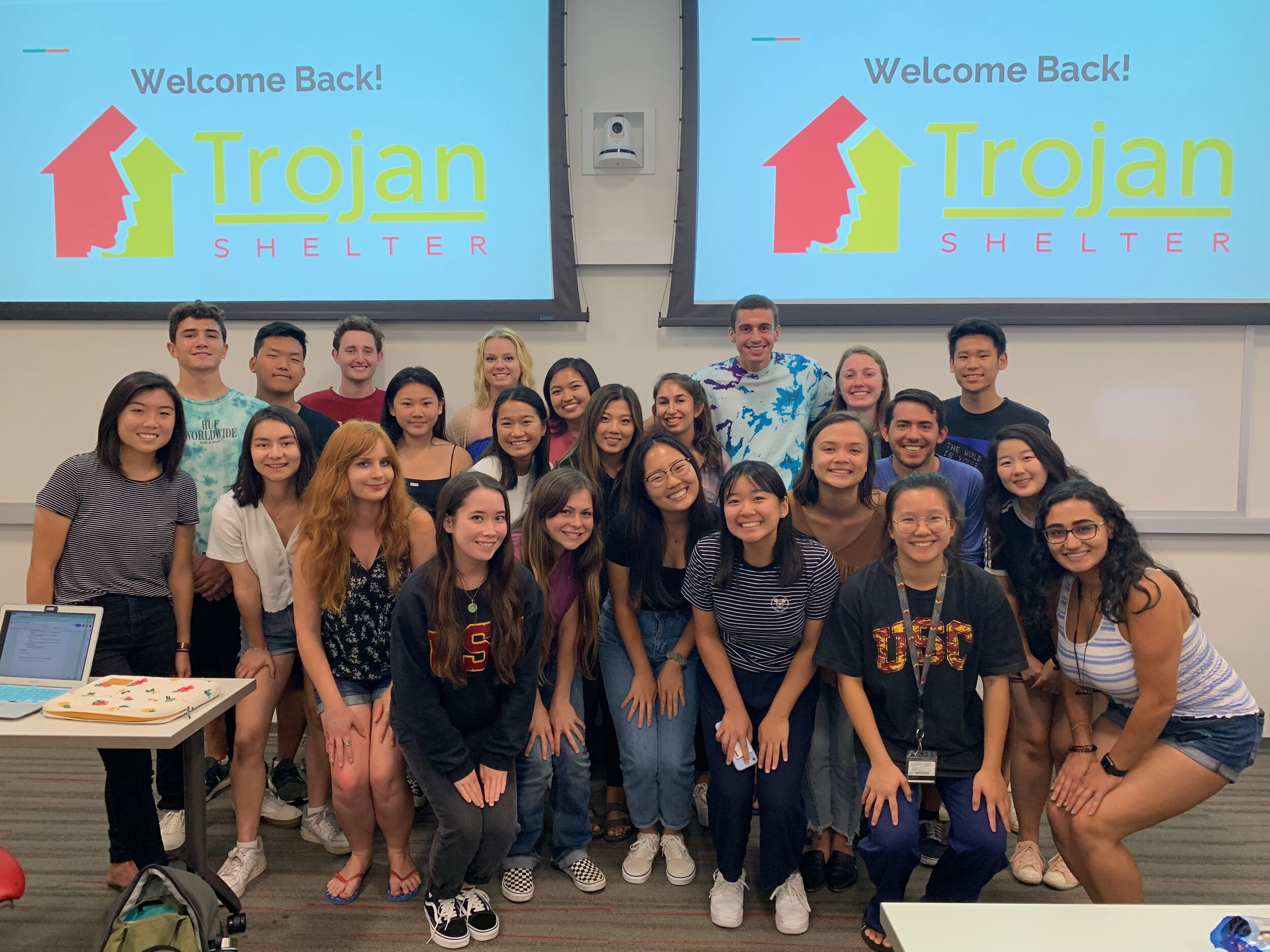 Trojan Shelter's first general meeting of the semester with our fabulous returning volunteers