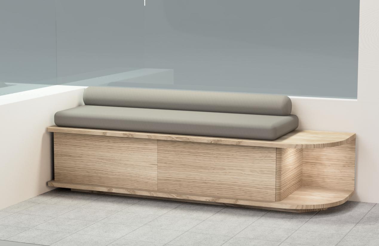 Rendering / initial design for Alterior motif bench