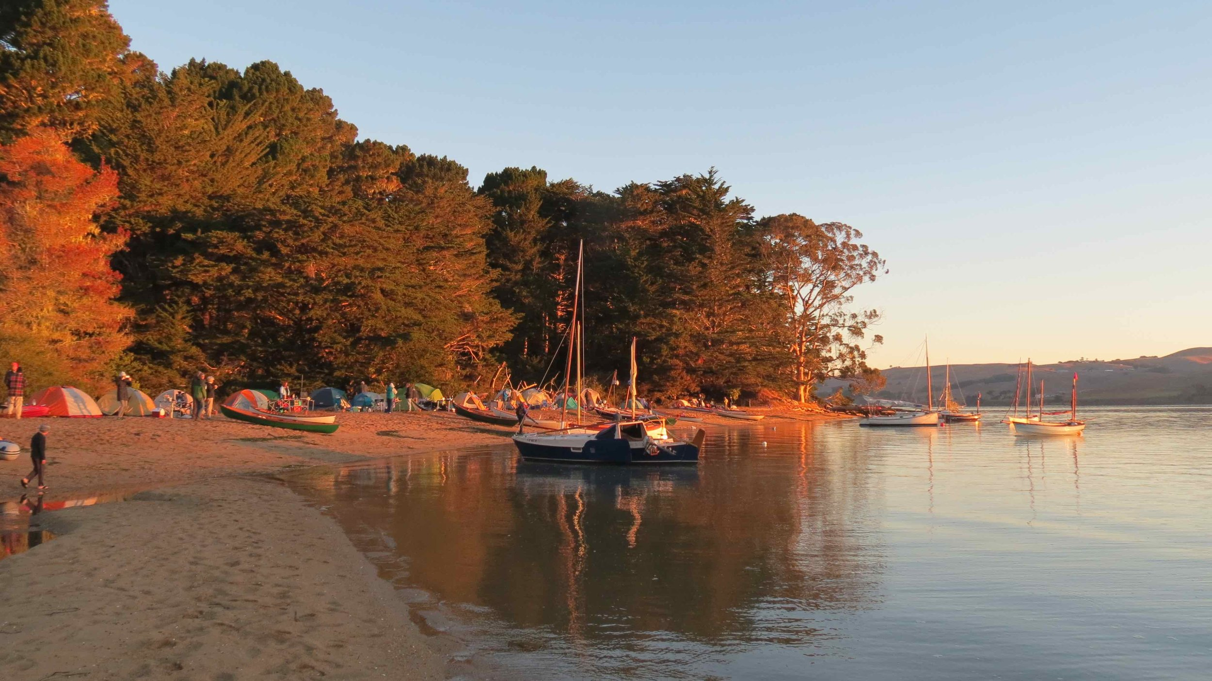 Annual camping trip on Marshal Beach in Tomales Bay.