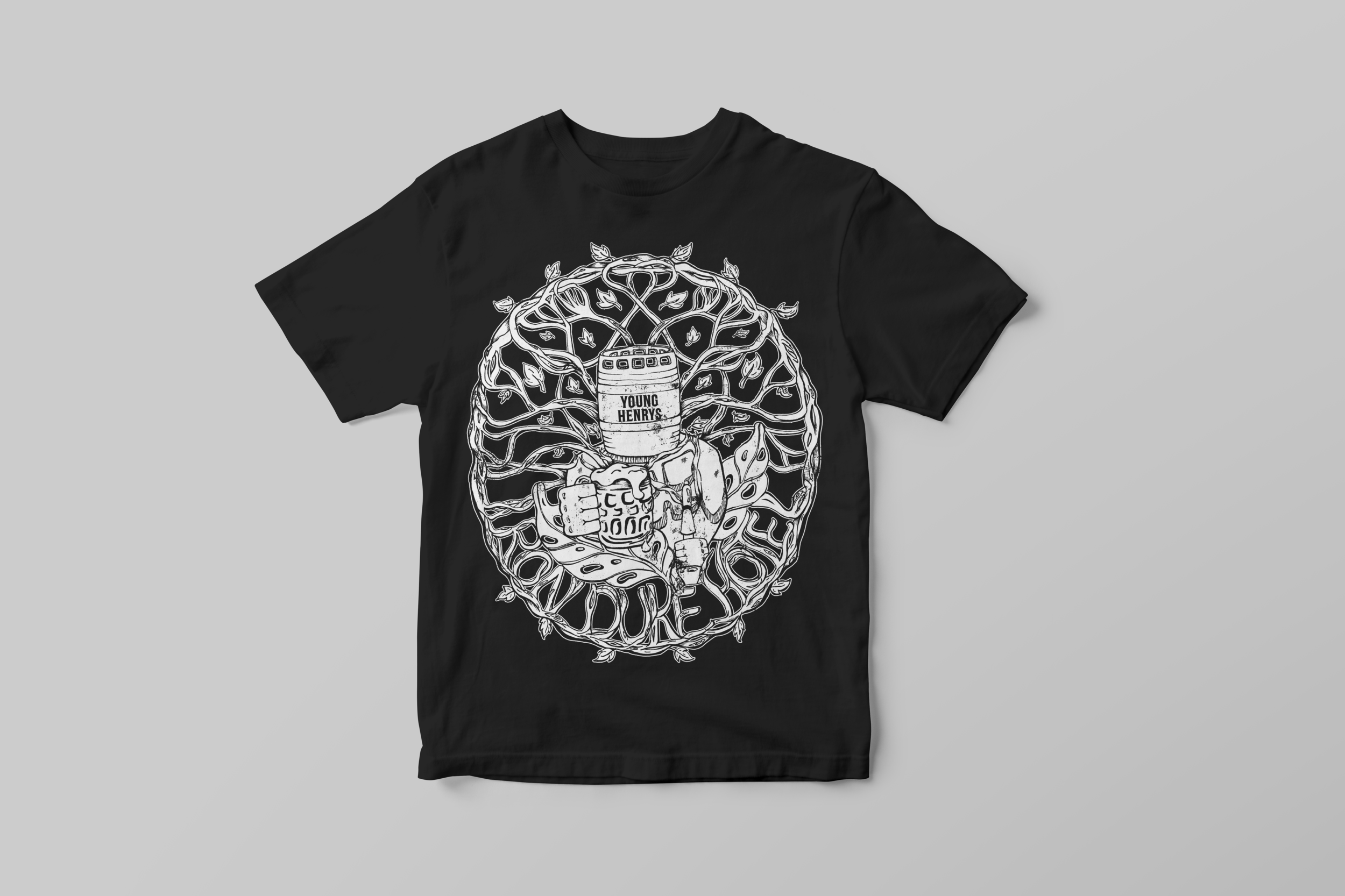T-Shirt artwork in collaboration with Young Henrys Brewery