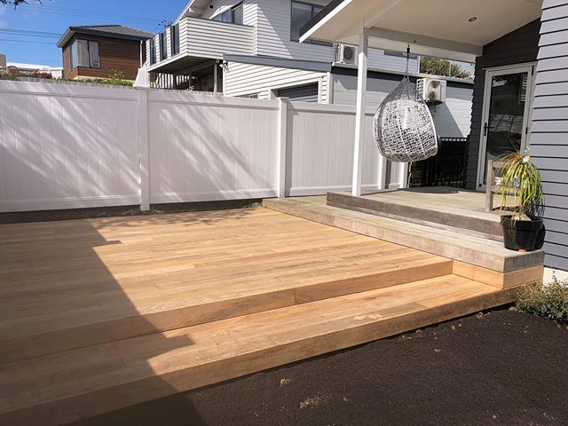 ⚒⭐️ Deck extension for summer ⭐️⚒ Our clients approached us to undergo a deck extension of their existing Vitex deck, and to level their lawn. Safe to say that this deck will get some good use this summer!! ☀️ #vitex #deck #construction #auckland #landscapeandconstruction #landscaping #greenroomprojects #gearupforsummer