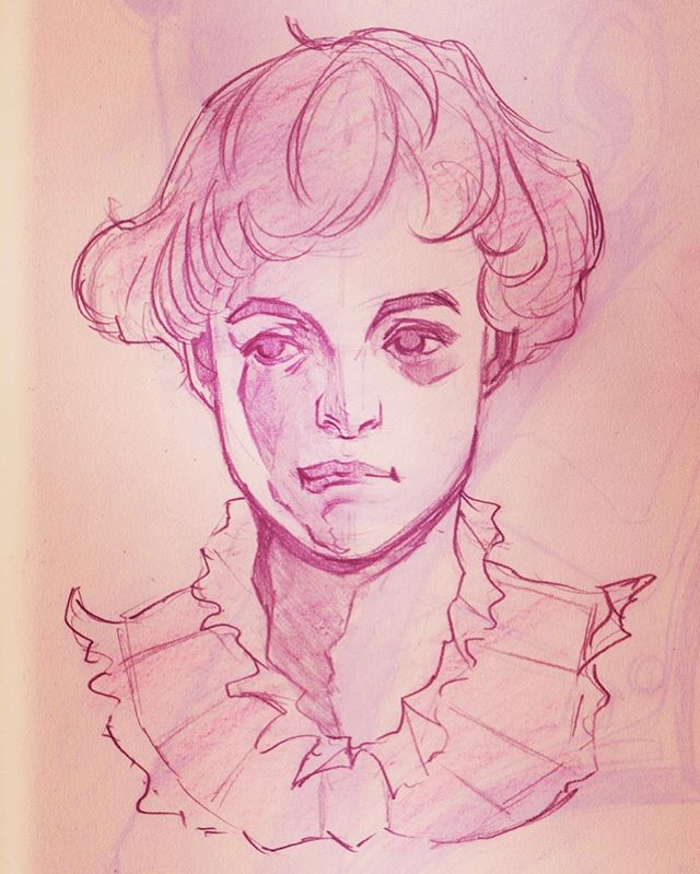 Back to random faces  #sketchbook #warmupsketch