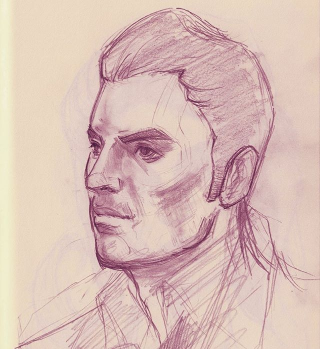 Test run on Kaidan for a Patreon project.  #kaidanalenko #masseffect #sketchbook #warmupsketch