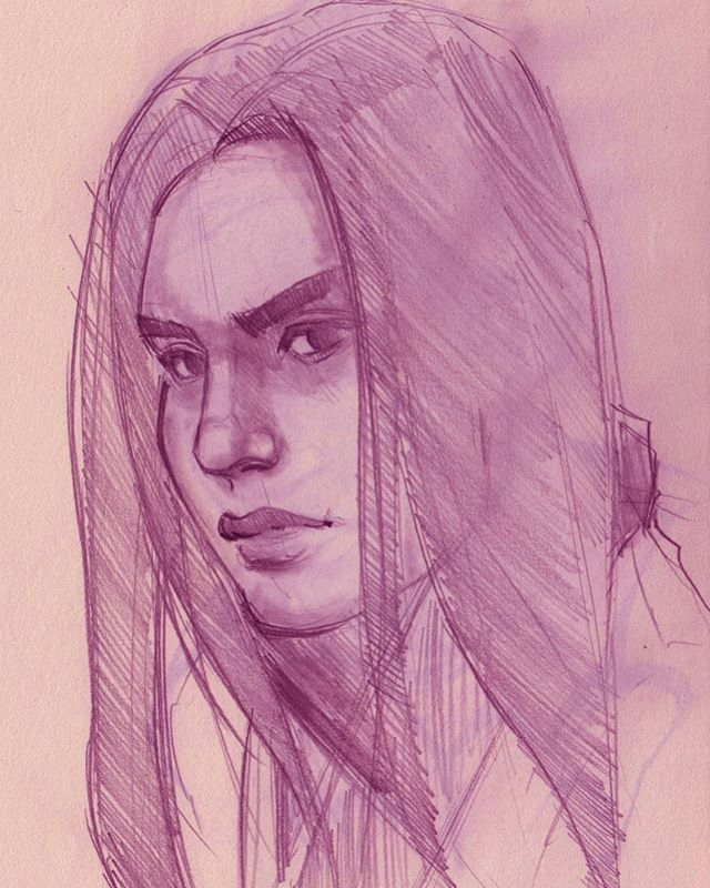 This was done a few weeks ago and I looked at the stuff I did last night. OMG I am going backward ... (and it isn't the first time 😂) #sketchbook #warmupsketch