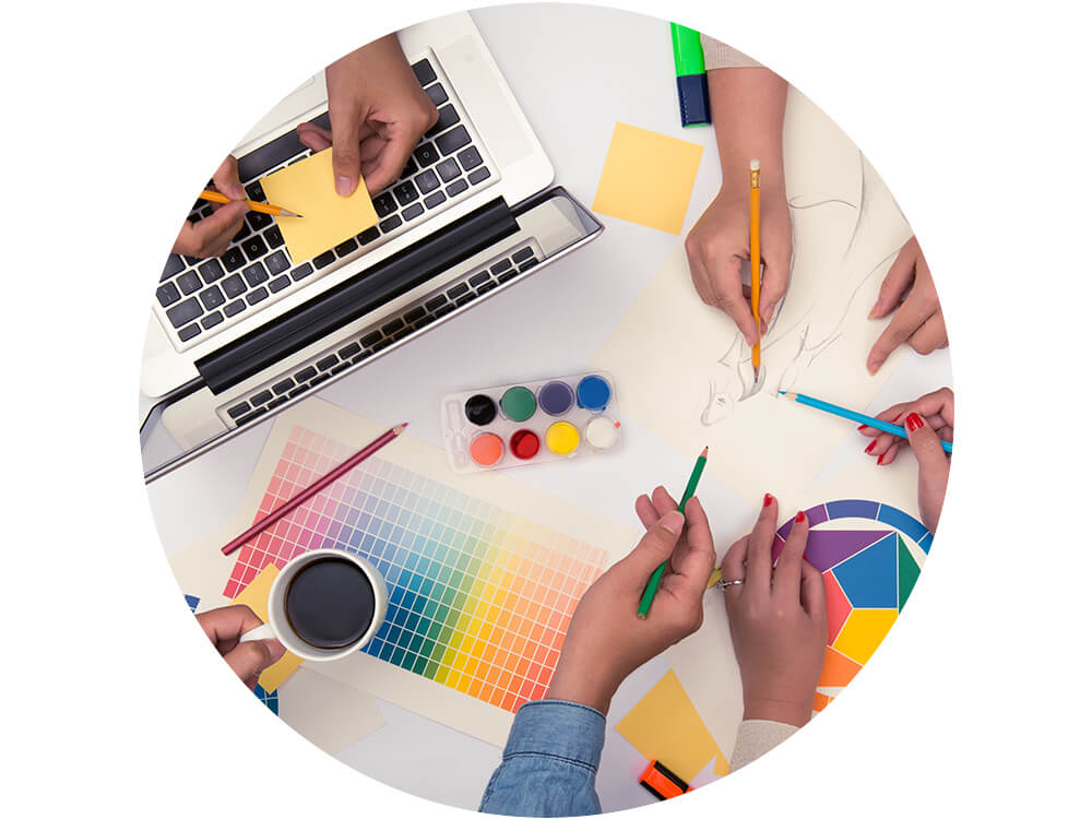 focus on creative work - With a reliable production partner on your side, your teams can focus their efforts and time working with your clients ideating, planning and conceptualizing design. The remaining production work can be taken care of by your content partner.
