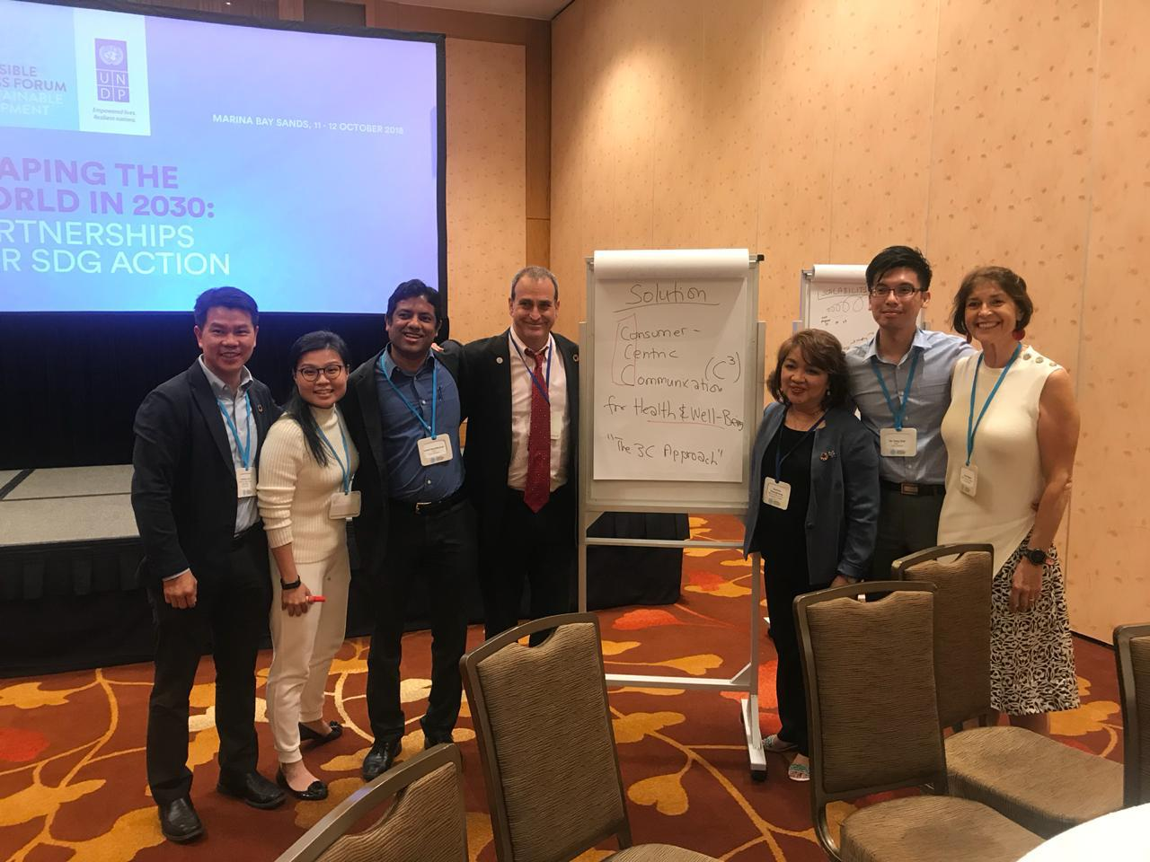 Participant and Facilitator with the team at the Responsible Business Forum on Sustainable Development Goals 2018 (Singapore) - on Food & Nutrition