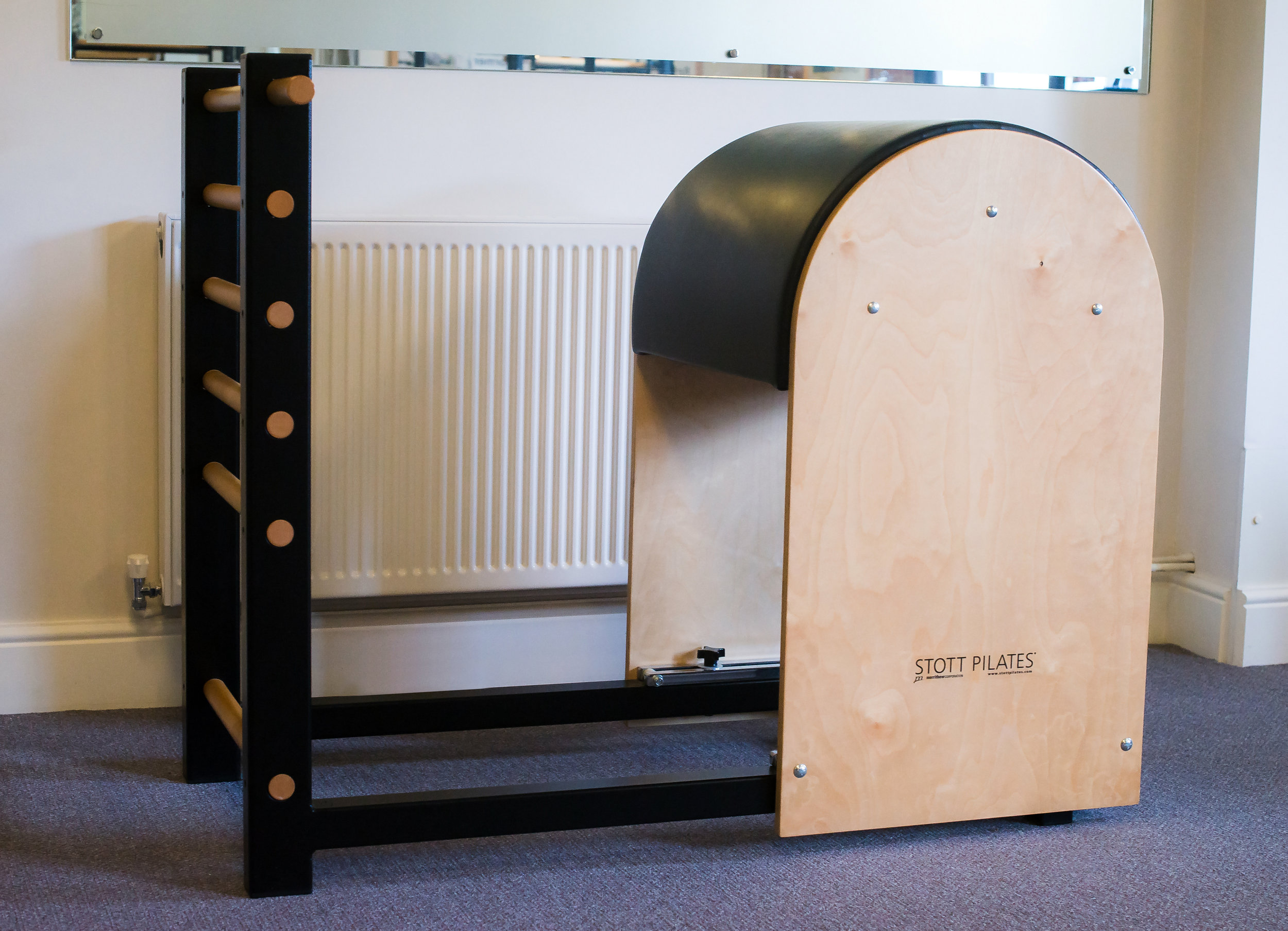 Ladder Barrel - From beginners to fully conditioned exerciser, the Ladder Barrel challenges core stability and strength for every Pilates enthusiast. it is designed for serious core conditioning and increase flexibility and mobility.