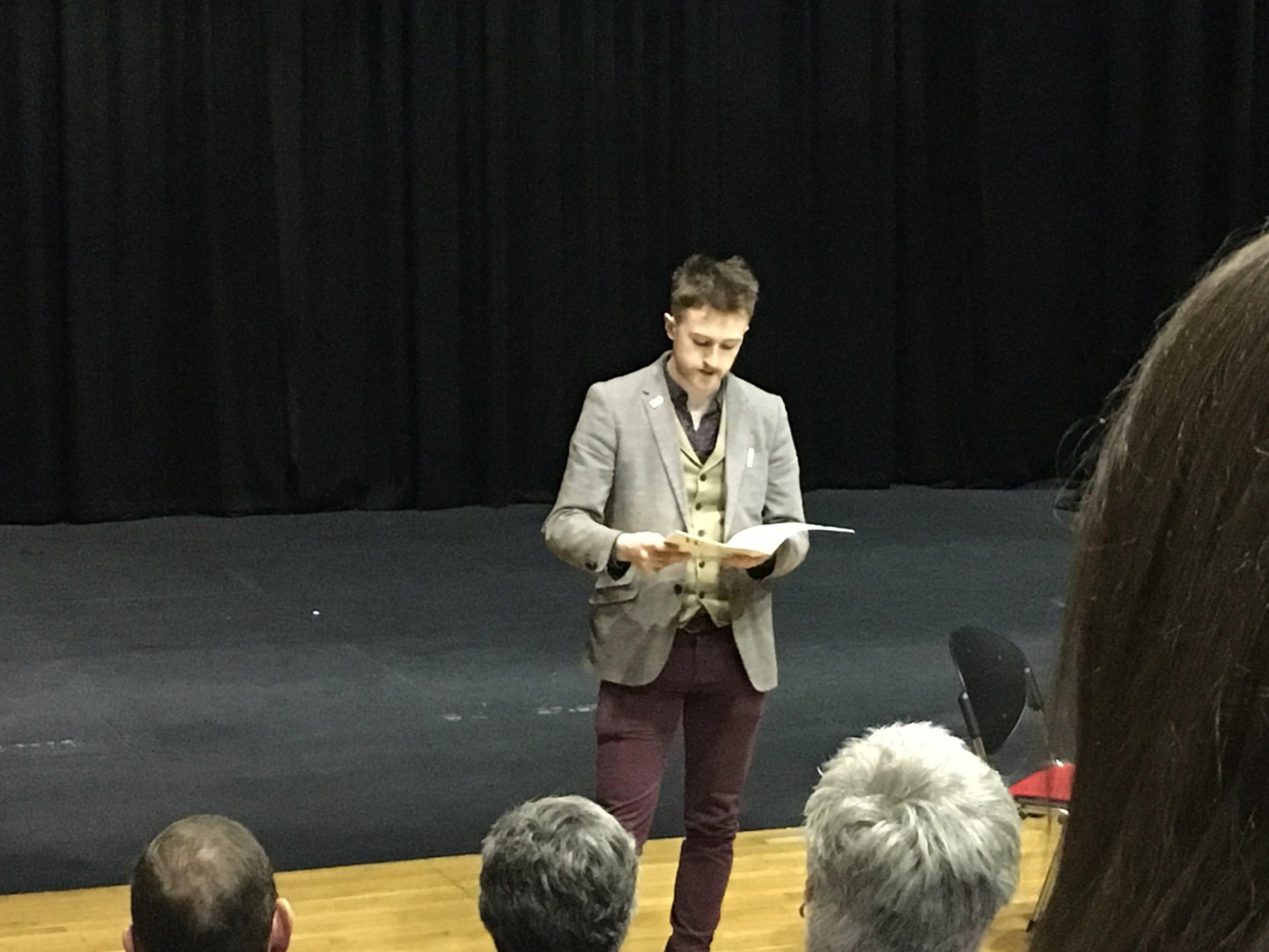 Rupert Ibbotson read his poem, 'Common Line Etiquette', for our audience.