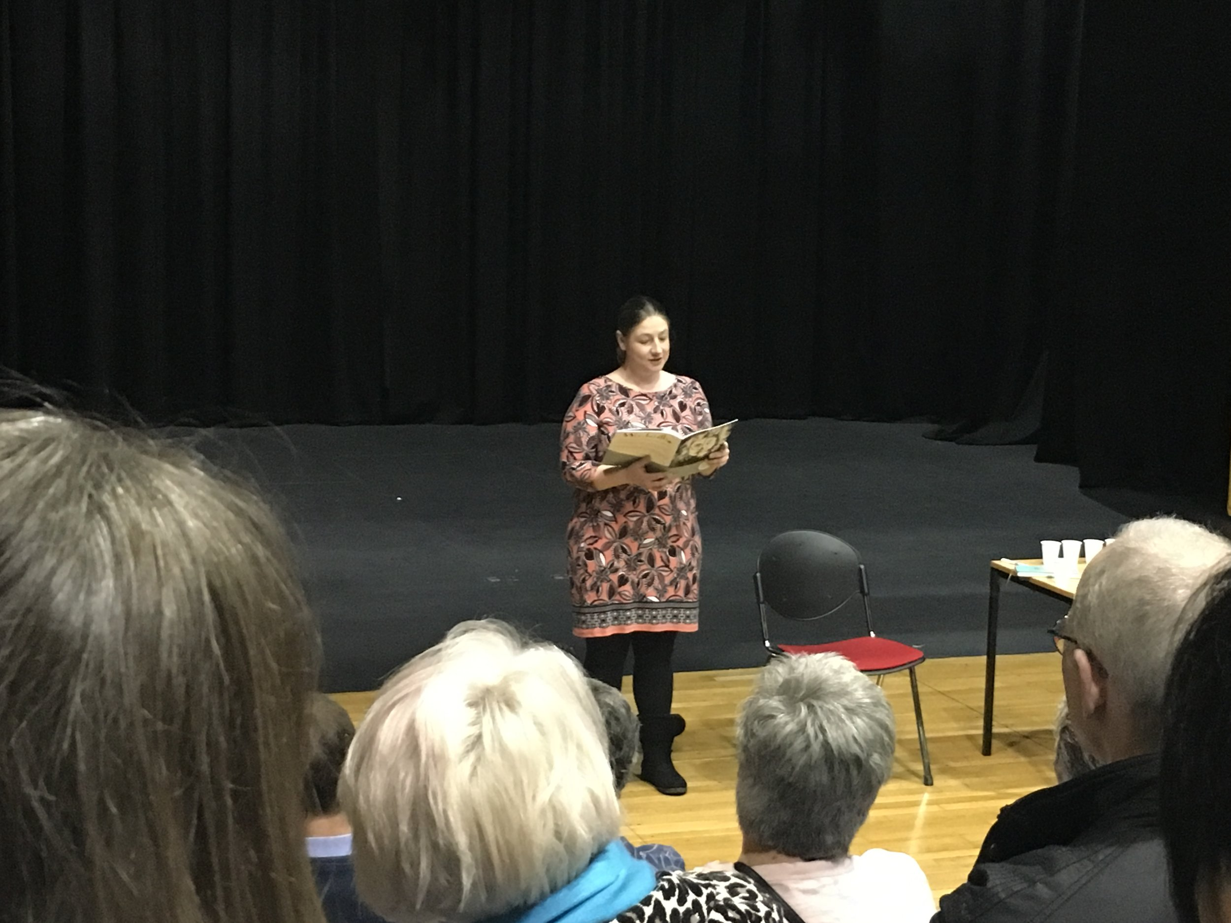 Next, we welcomed Chair of  Nottingham Writers' Studio , Sarah Hindmarsh, to read not one, not two but THREE pieces published in this issue!