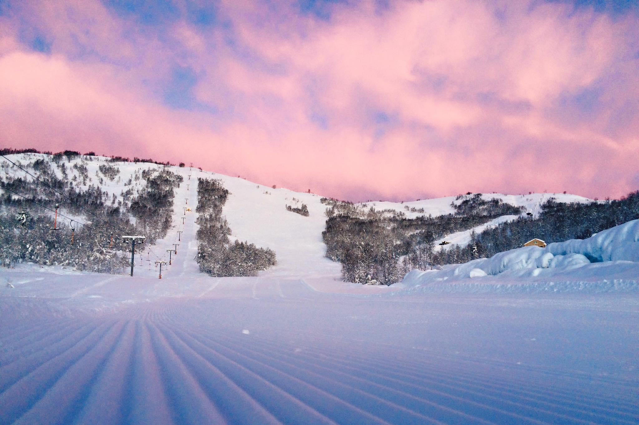 Ein del skianlegg i Norge vil bli negativt påverka av klimaendringar etter kvart som milde vintrar blir vanlegare. Foto: Recbecca Sortland