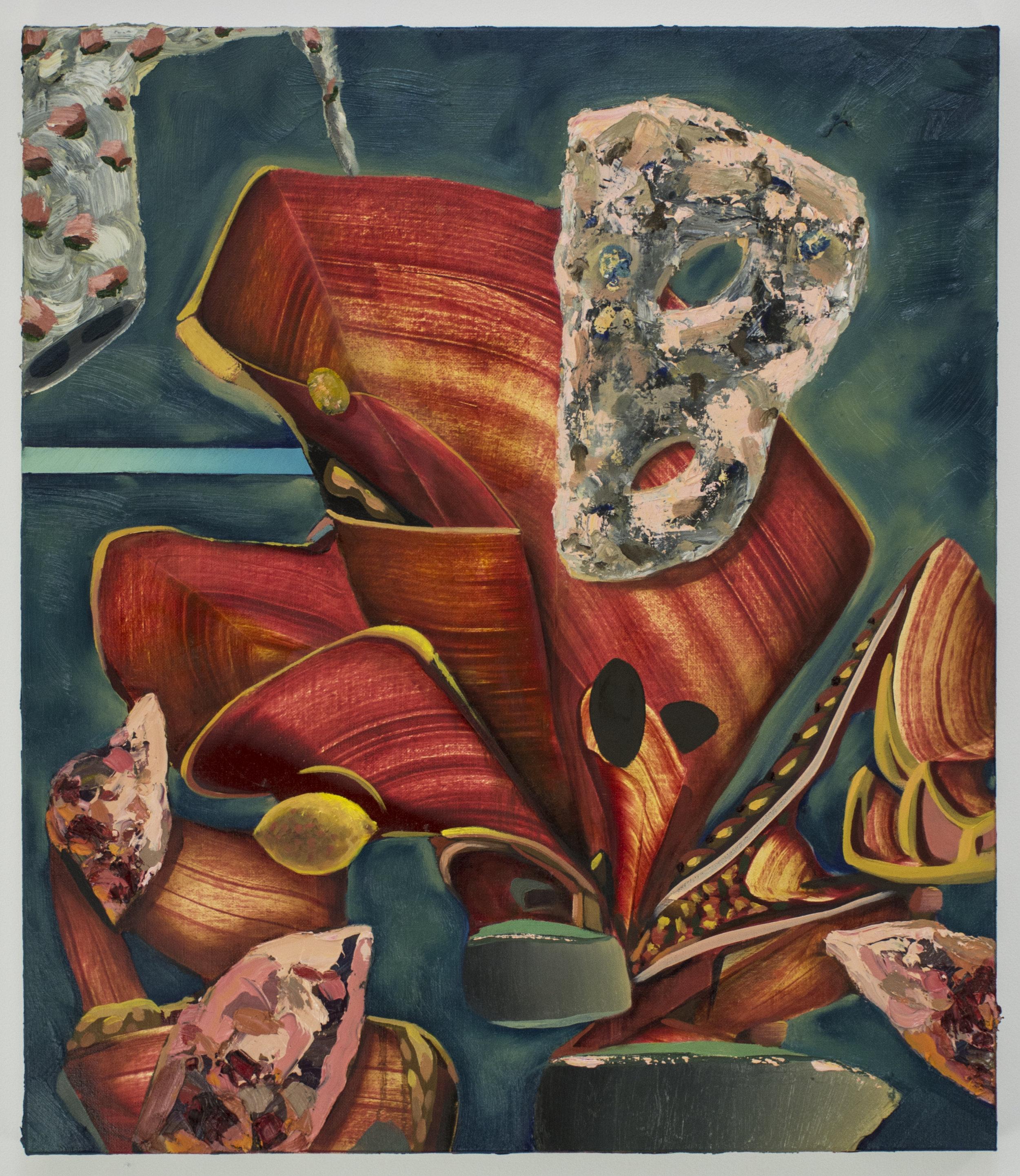 Stone Mask, 2018, oil on linen, 70 x 60 cm