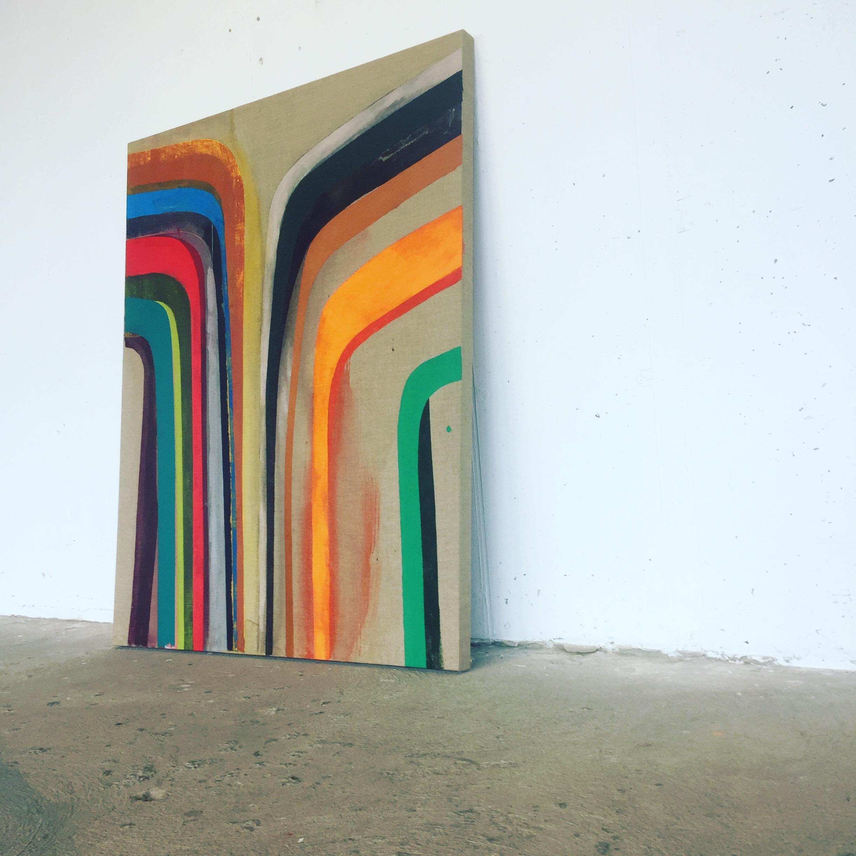 Lightfall, 2018, acrylic on raw linen, 150 x 100 cm