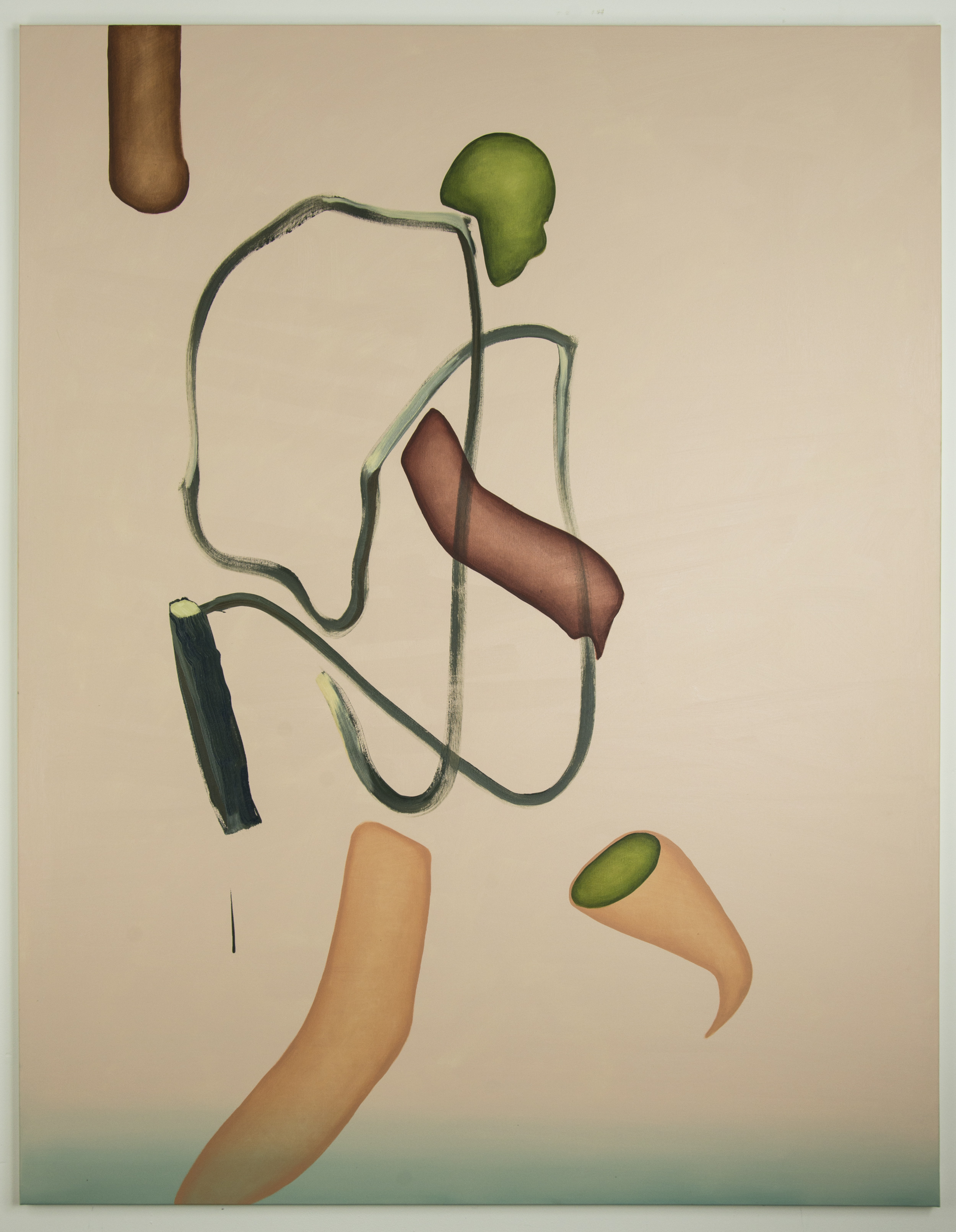 Simple Game, 2016, oil on canvas, 180 x 140 cm