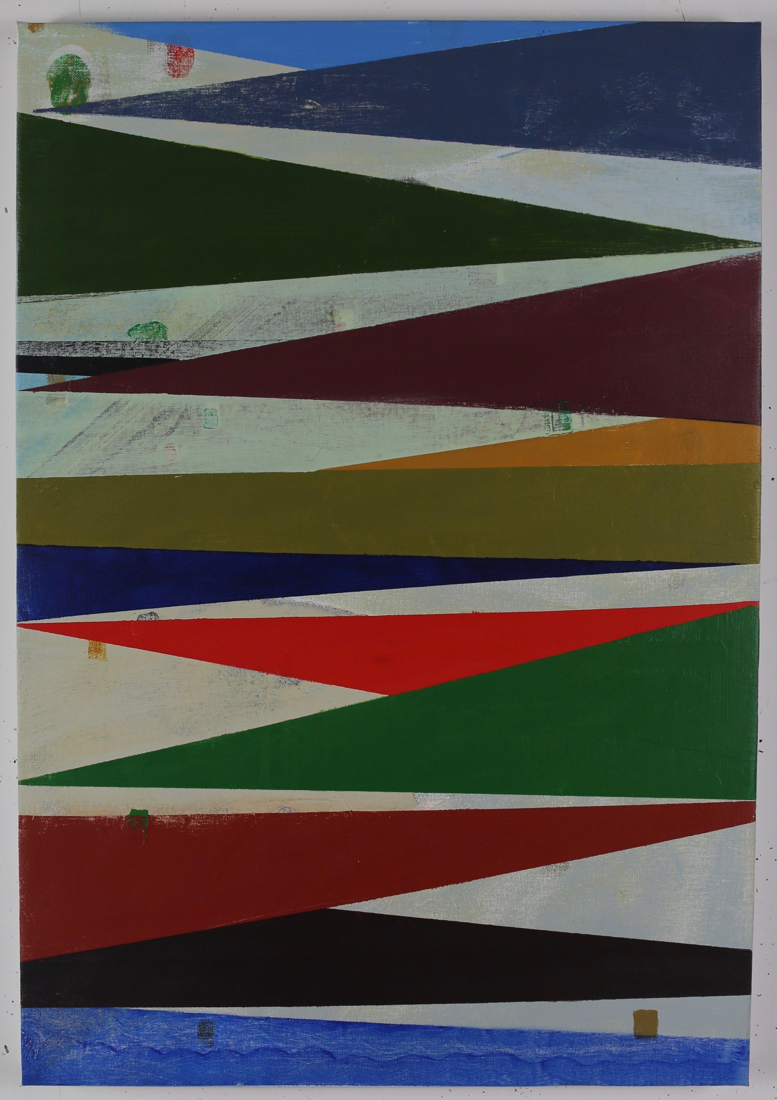 8-Bit Radiant,2018, acrylic on canvas 71x49cm