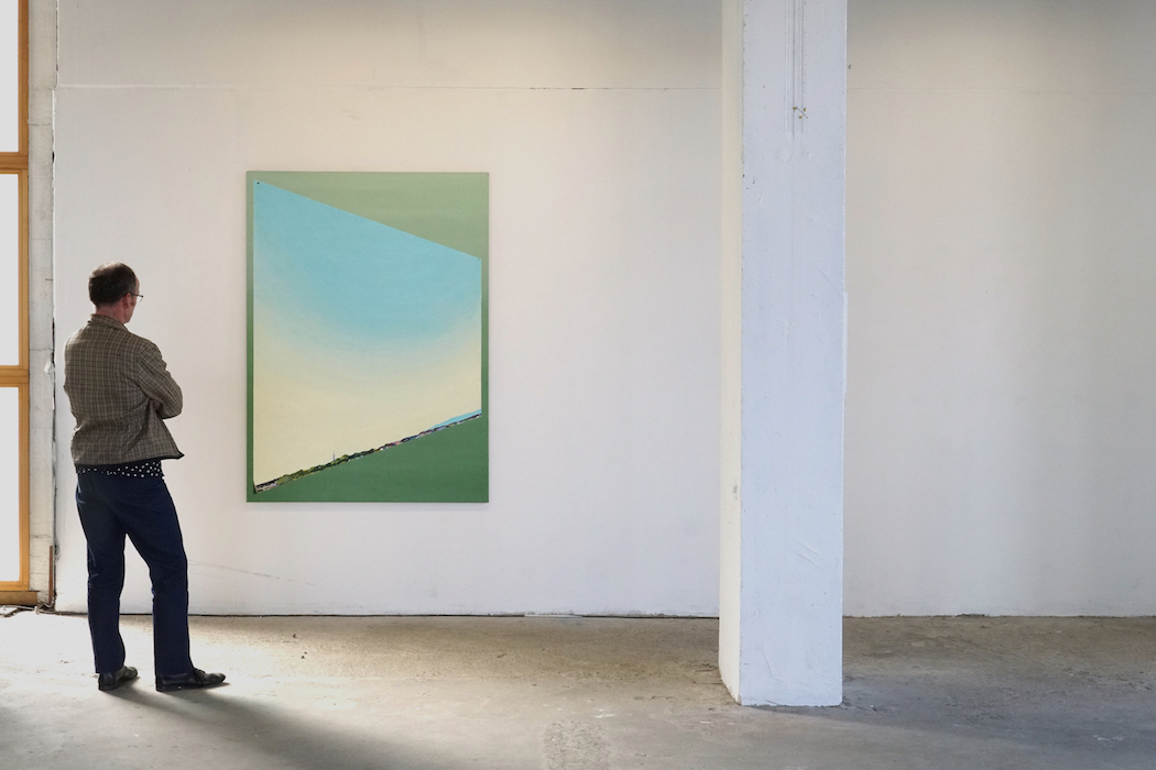 Ramon Kassam | Study for a Studio by the Sea. Green on Red Gallery Dublin 2018.