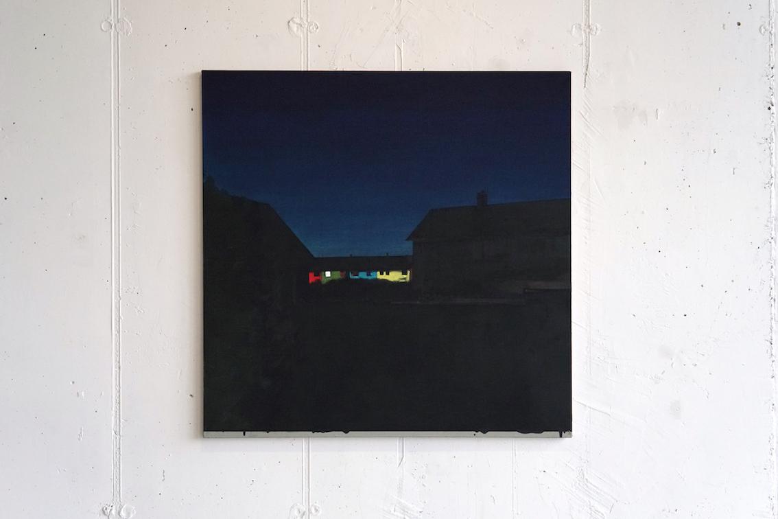 Night Painter. Acrylic on linen, 116x116cm. 2018.