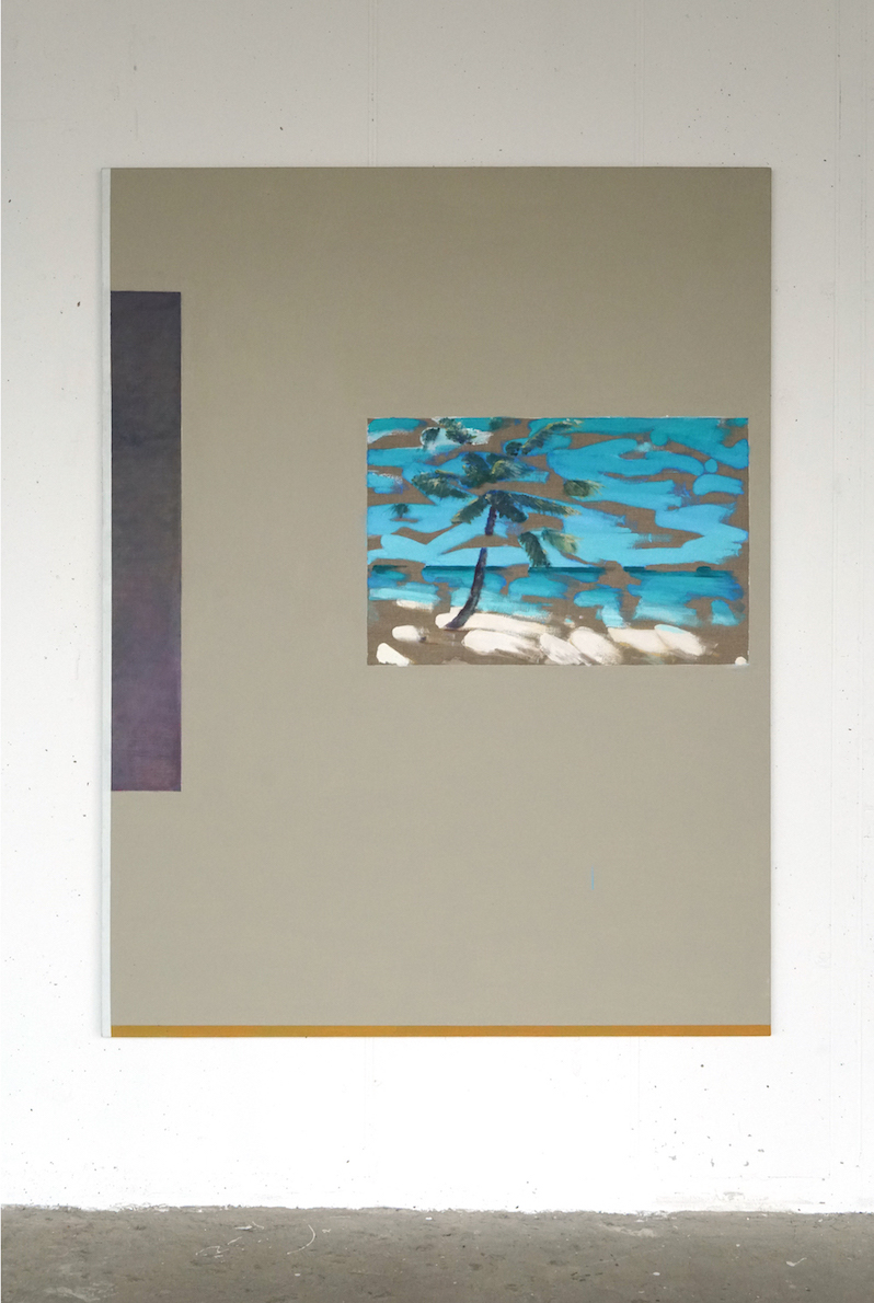 Tropical Strokes. Acrylic on linen, 150x200cm. 2018.