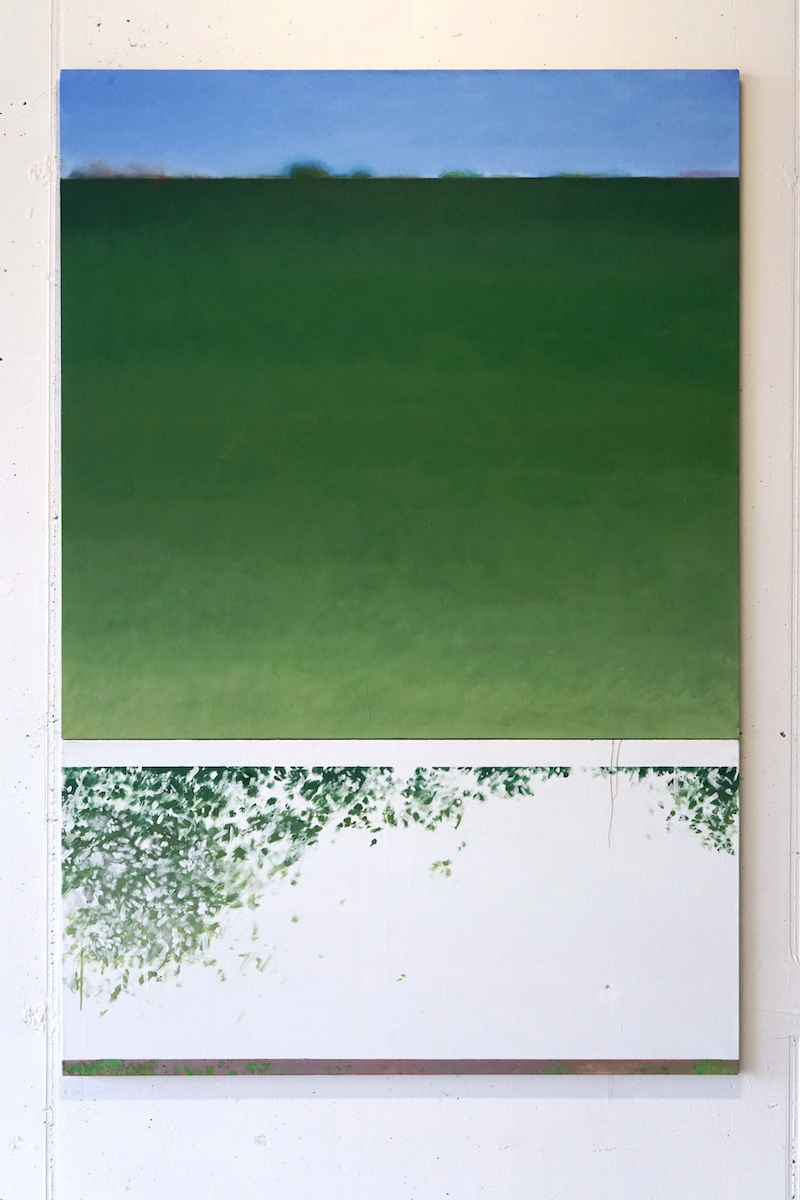 View, Acrylic on Linen, 122x183cm. 2018.