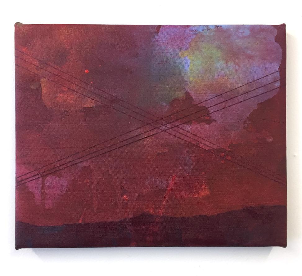 Near home?, Acrylic on linen, 30x25cm.