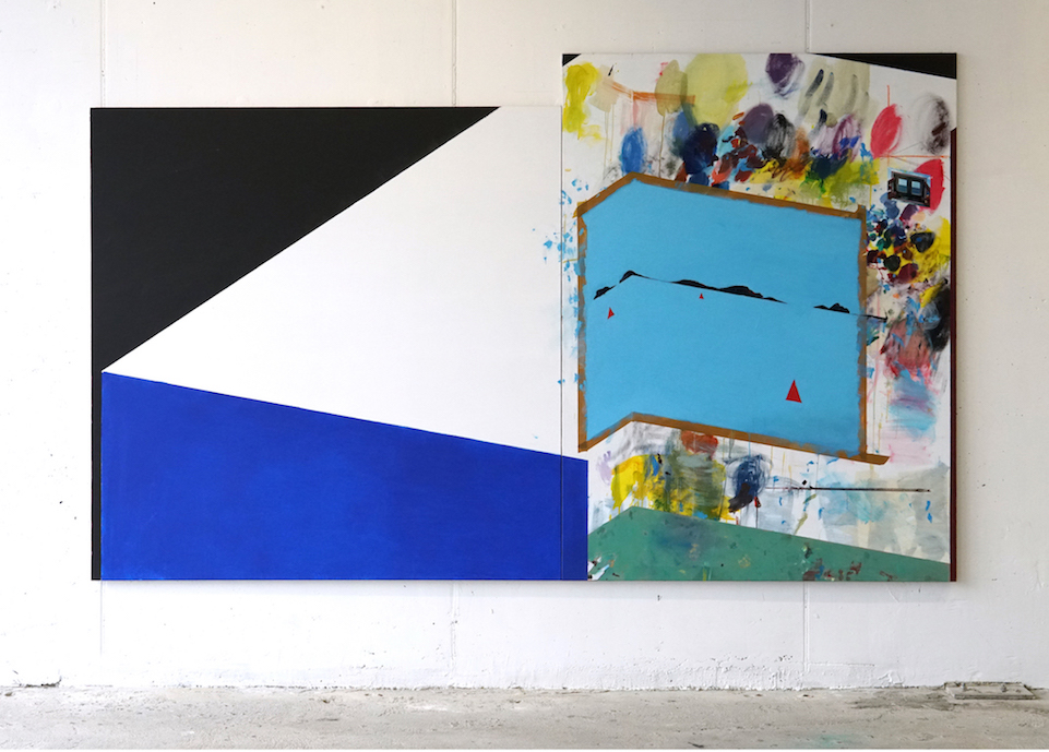 Study for a Studio by the Sea. Acrylic on linen, 330x200cm. 2018.