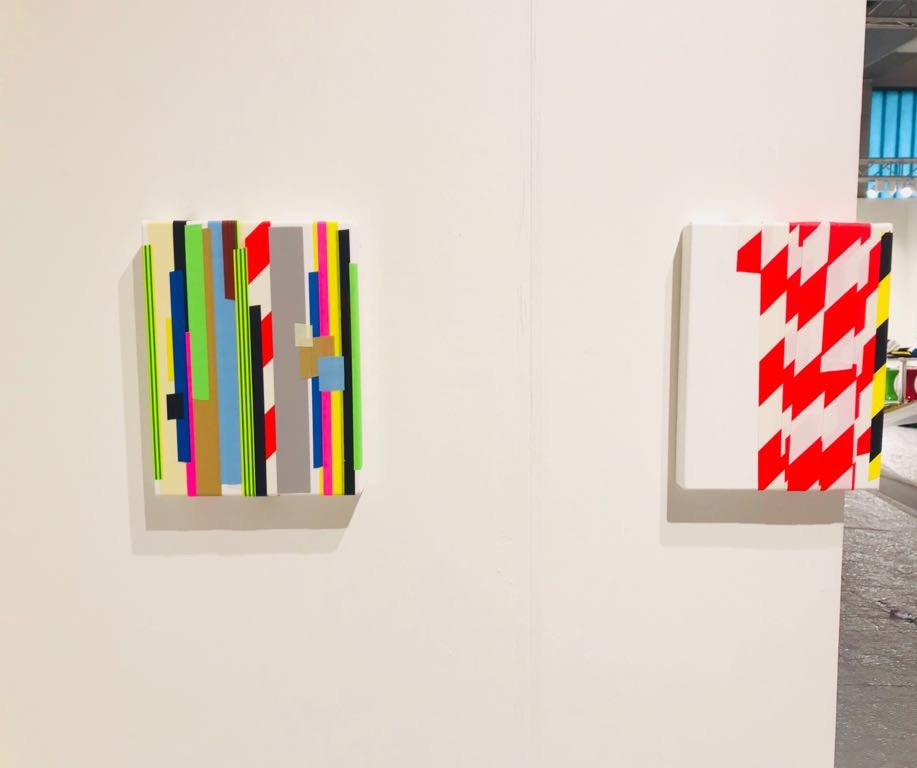 Installation view of Caroline McCarthy's work at Booth B22 VOLTA14