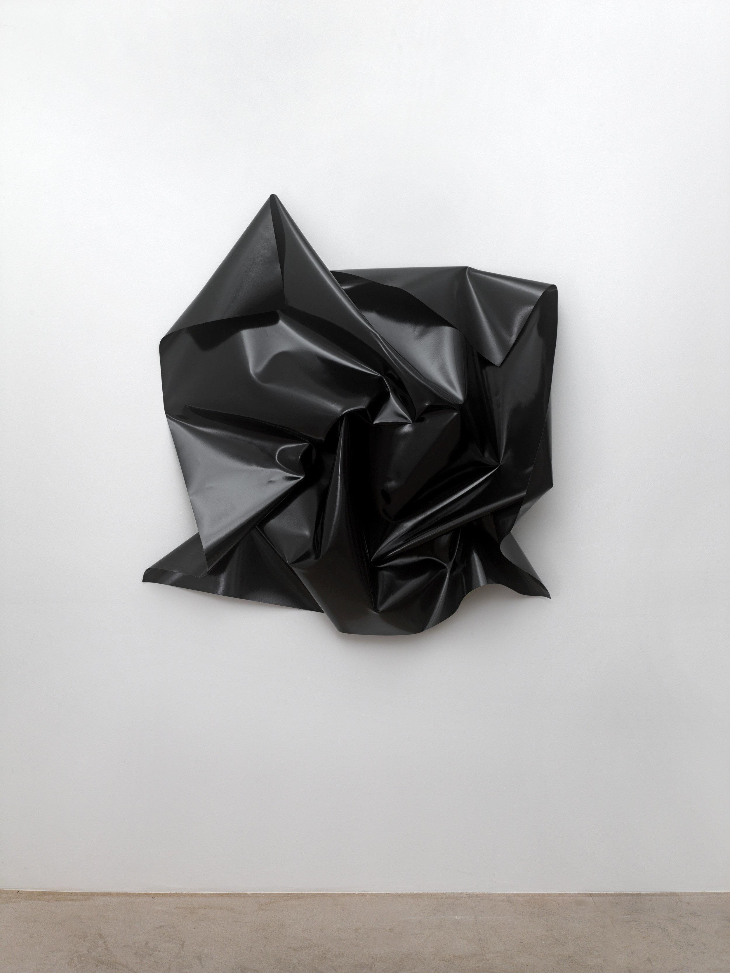 Kirstin Arndt,  Untitled , 2007, truck tarpaulin, 135 x 135 x 30 cm. Photo: Achim Kukulies