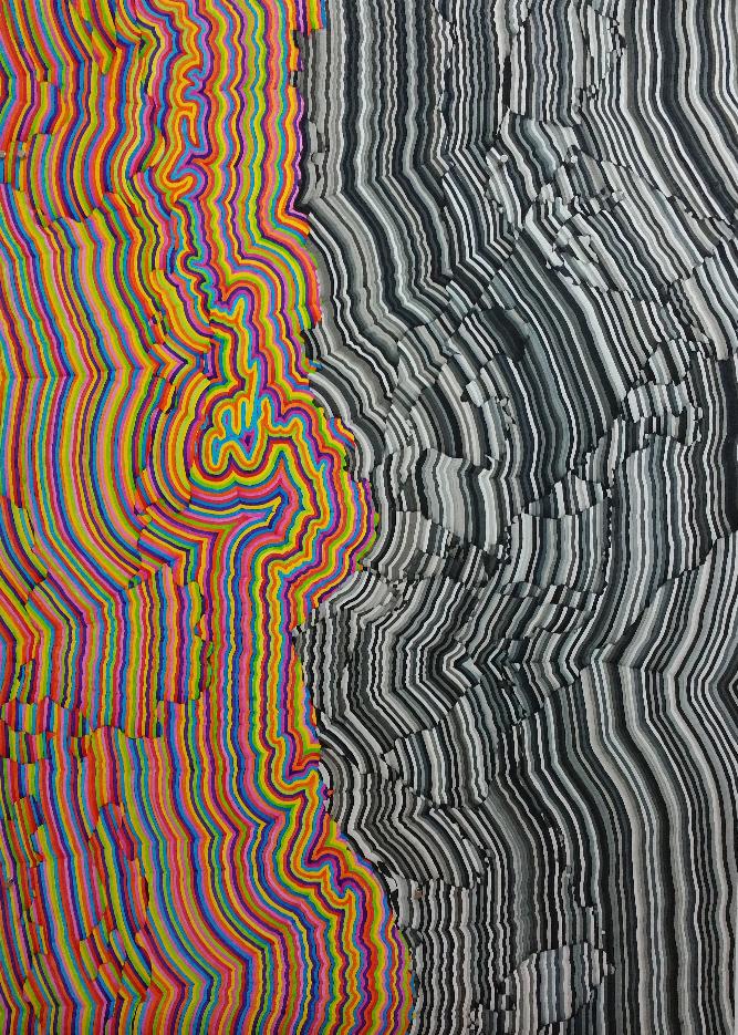 Sierra.jpg (v1)  2016 Lightfast pigment paint on archival 100% cotton portfolio rag, cold mounted to dibond 176cm x 126.5cm