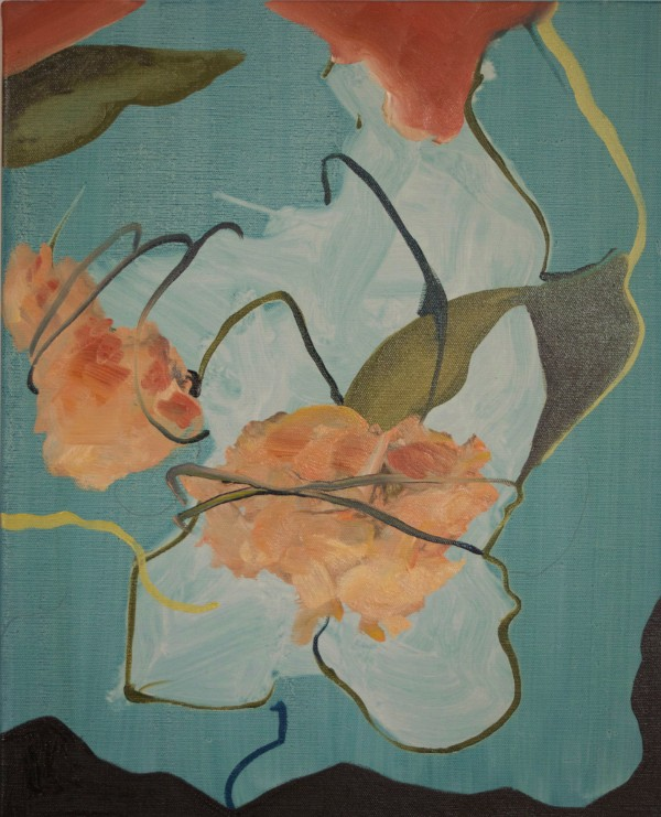 Damien Flood, Tied , 2015, Oil on Canvas, 50 x 40 cms