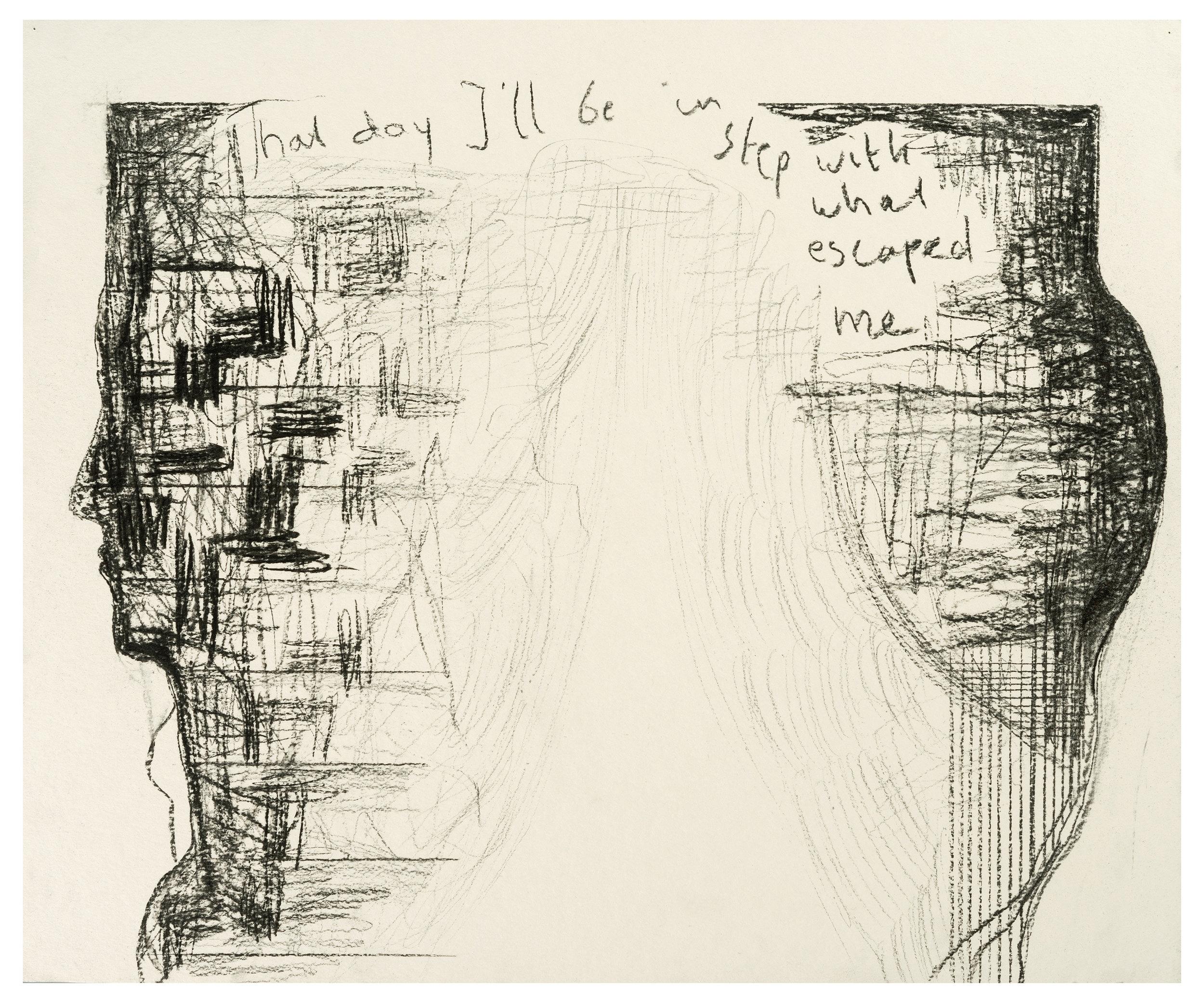 Nr 002: Untitled, charcoal, 43 x 51,6 cm, 2017