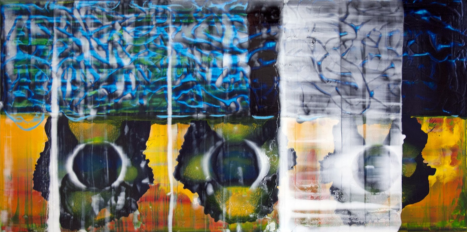 9. John Cronin - Standard Deviation - oil on aluminium 2013, 2x4 .jpg