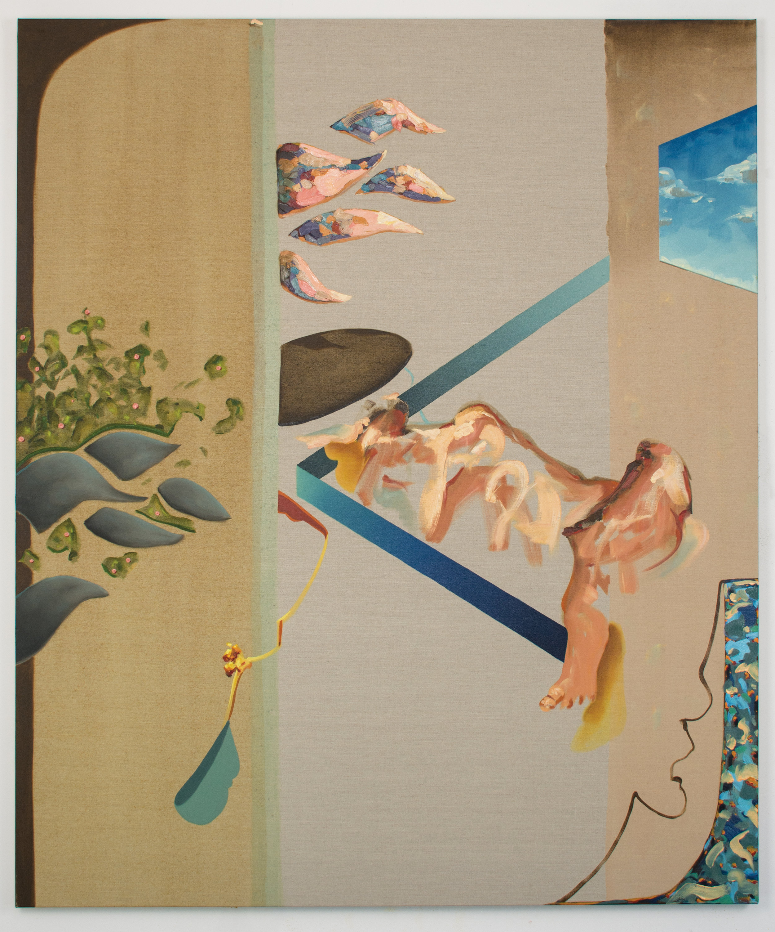 Slumber, 2018, Oil on linen, 150 x 125 cm