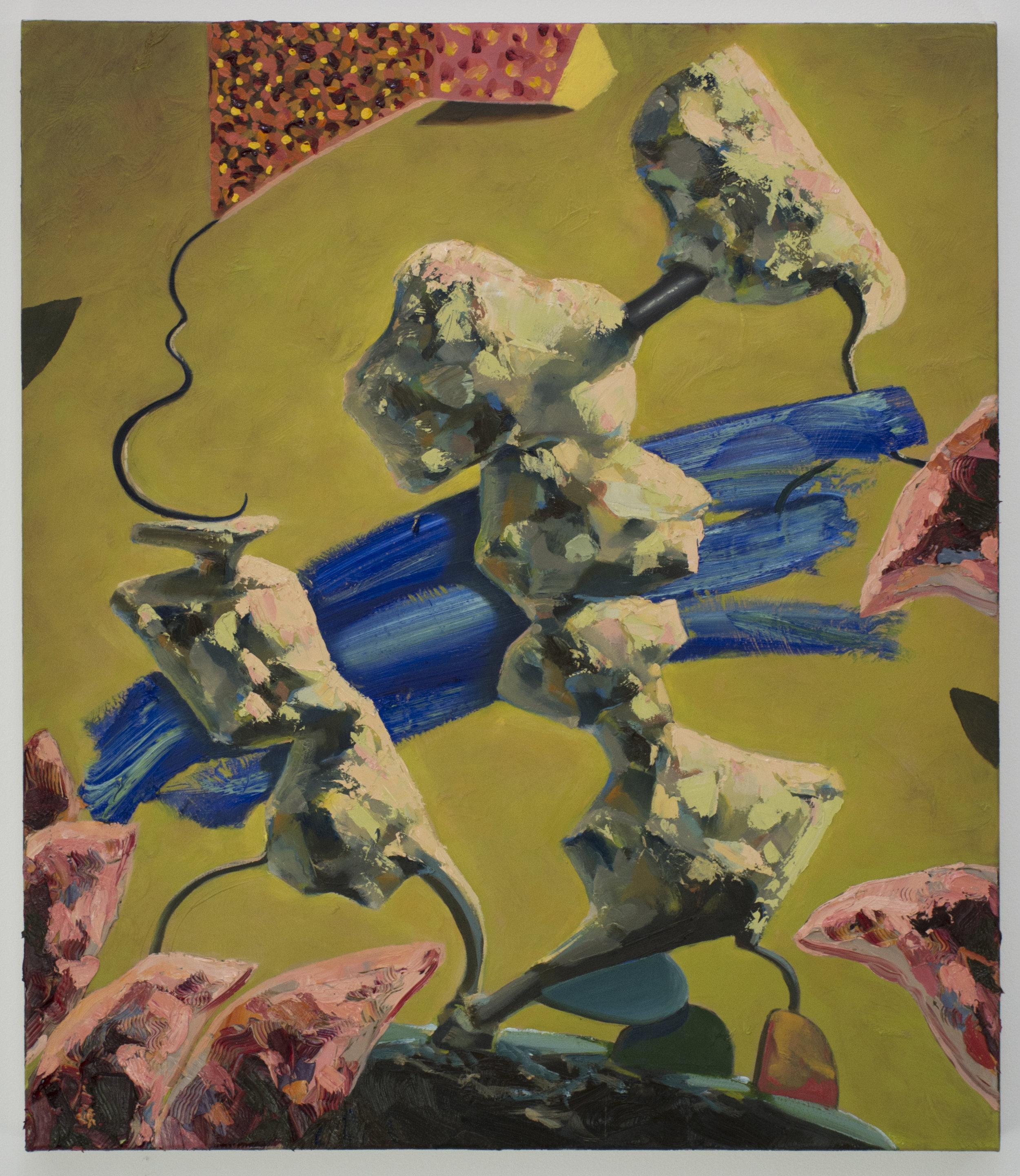 Study, 2018, Oil on linen, 70 x 60 cm
