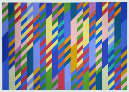"""June 1992/2002 Screenprint on paper 36 1/2 x 52"""" 92.7 x 132.1 cm   Edition of 75 Printed by Sally Gimson Artison Editions, Hove"""