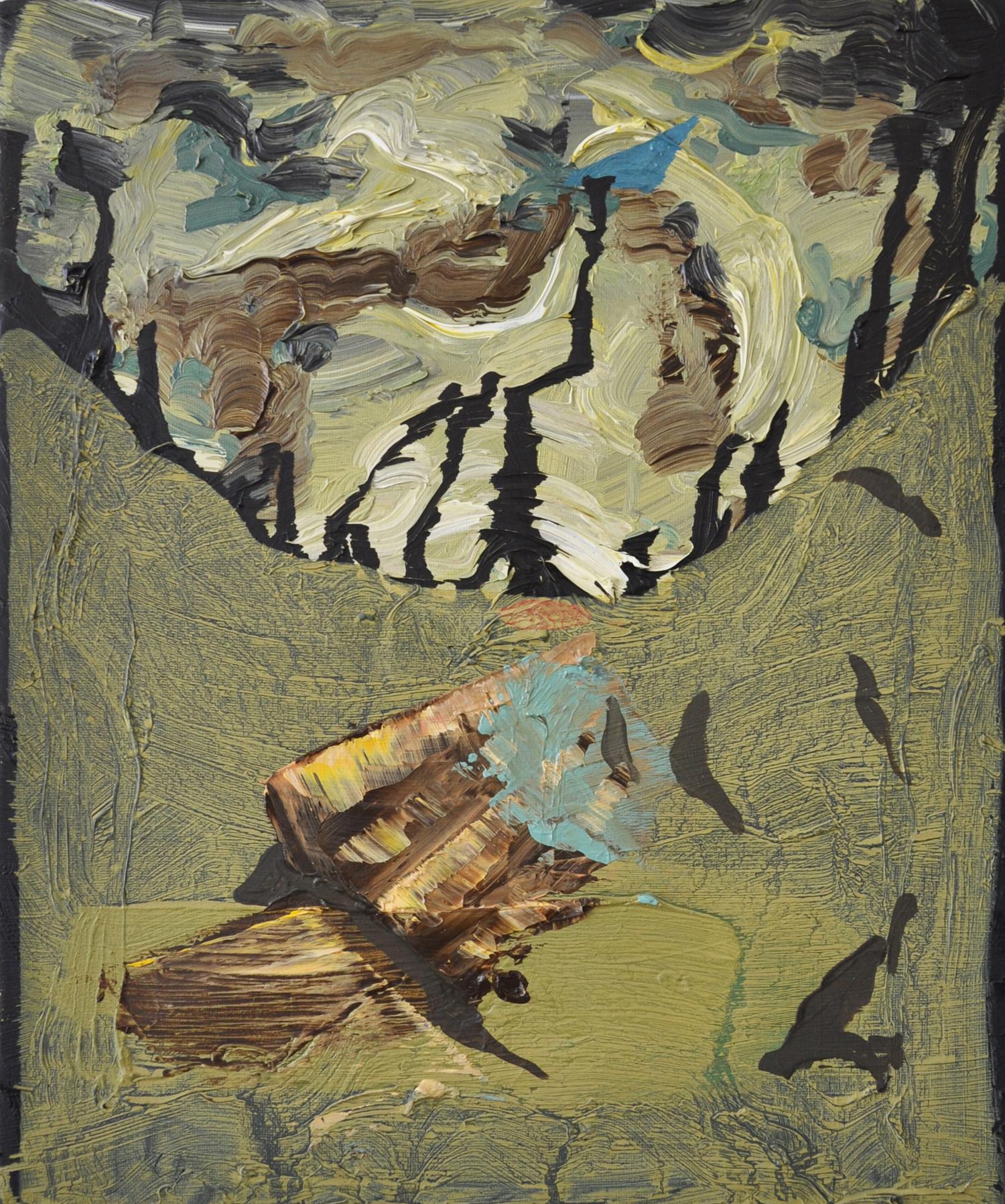 Fragment, 2013, Oil on canvas, 30 x 25 cm
