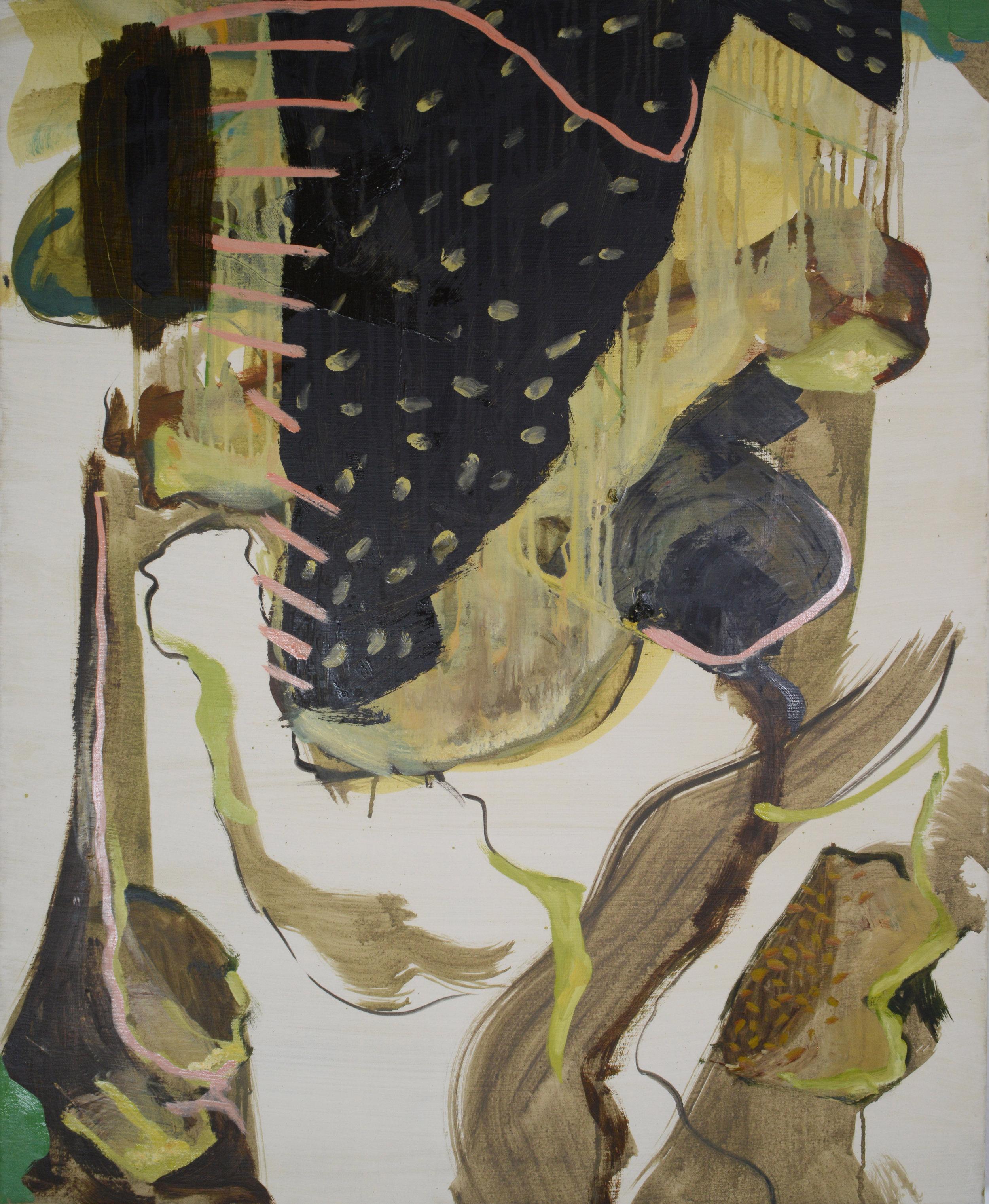 Stitch, 2013, Oil on half oil ground, 90 x 75 cm