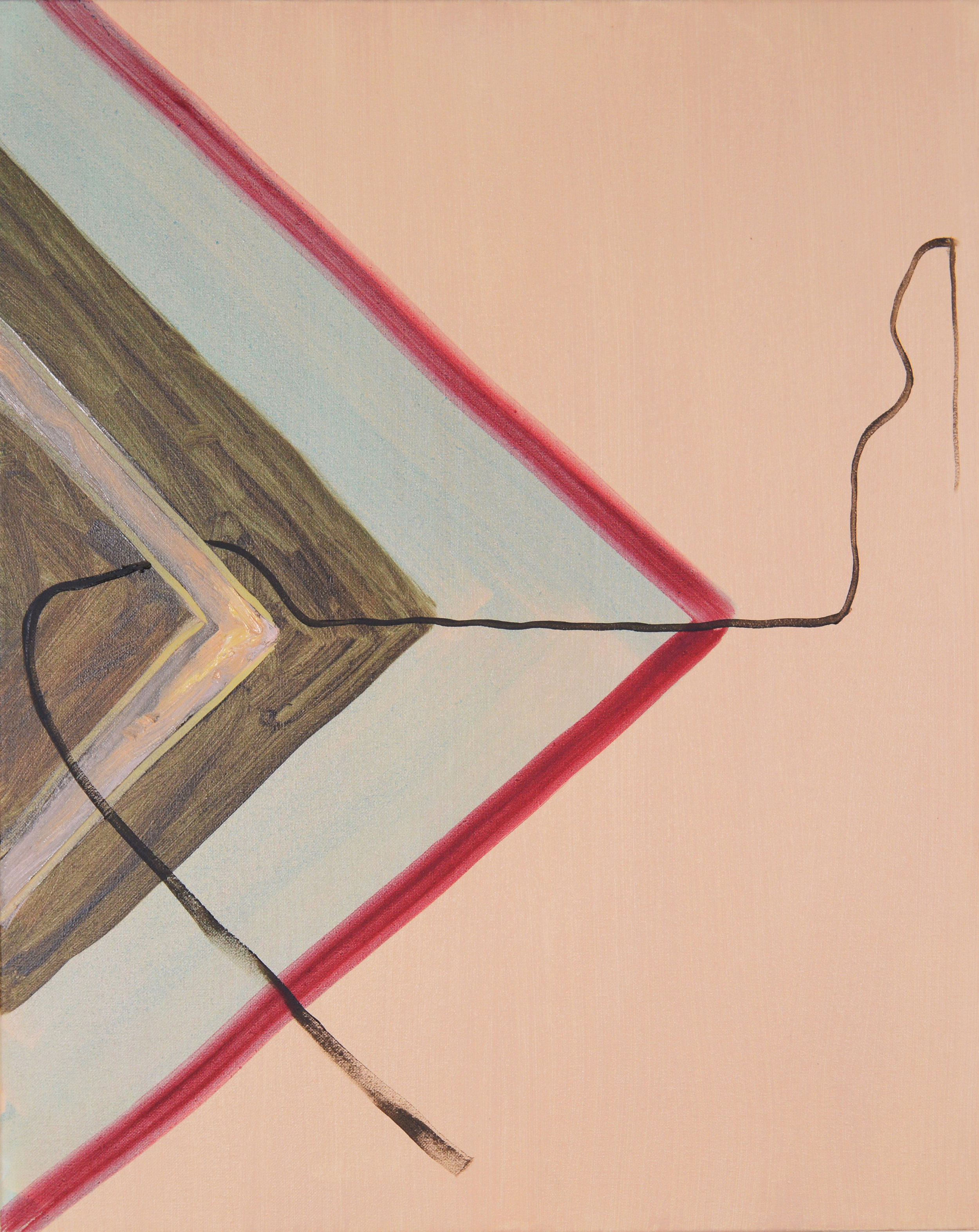Wired, 2013, Oil on canvas, 50 x 25 cm